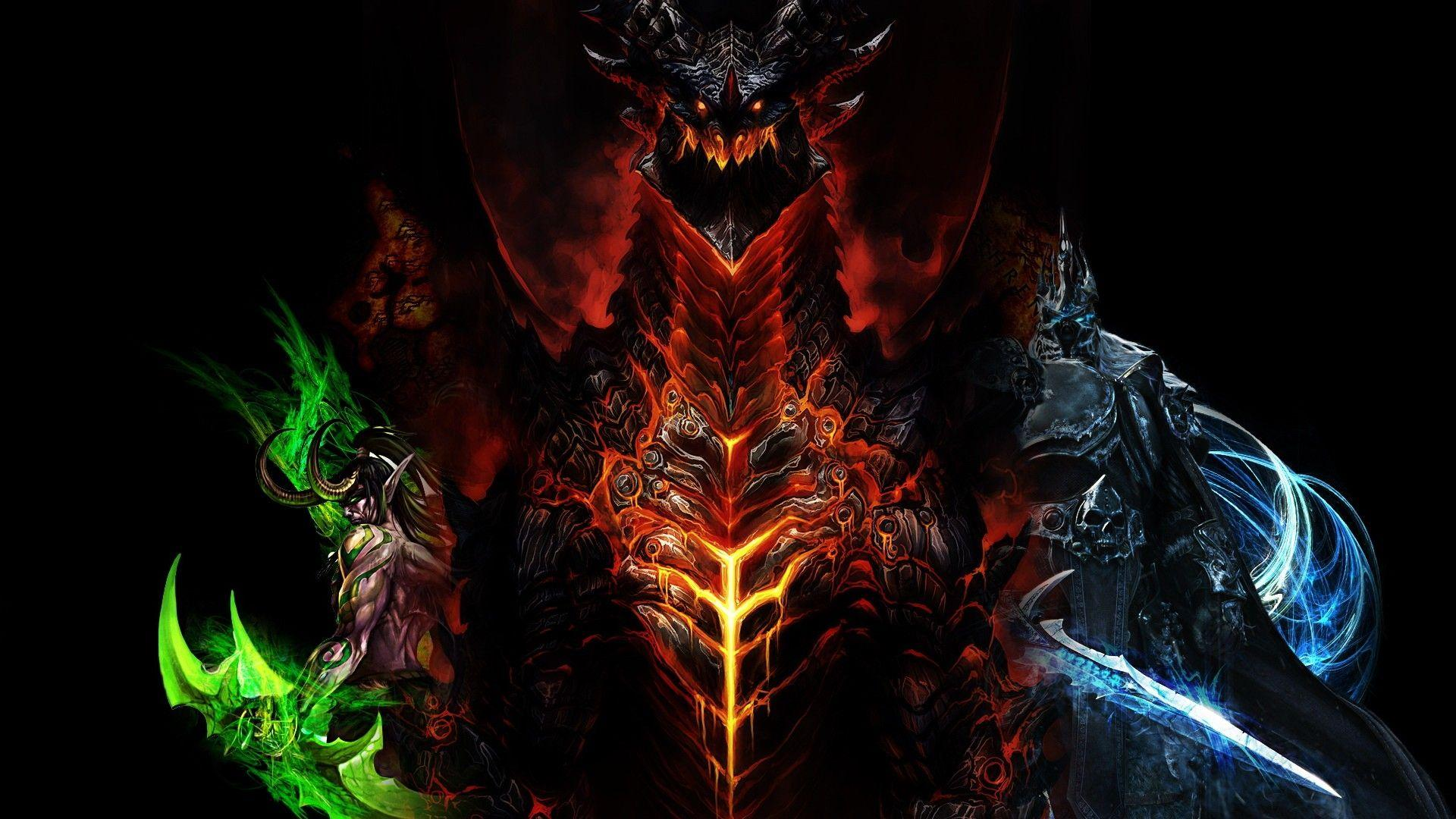 Download Wallpapers 1920x1080 world of warcraft, dragon, characters