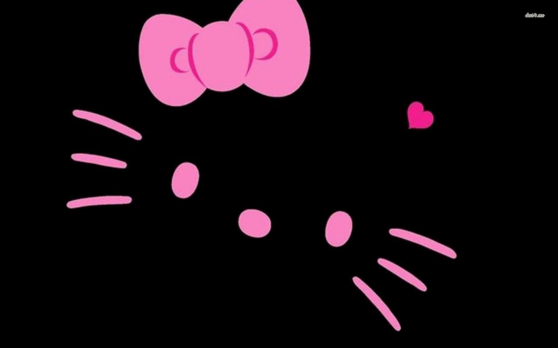 Wallpapers Hello Kitty Pink Hitam - Wallpaper Cave