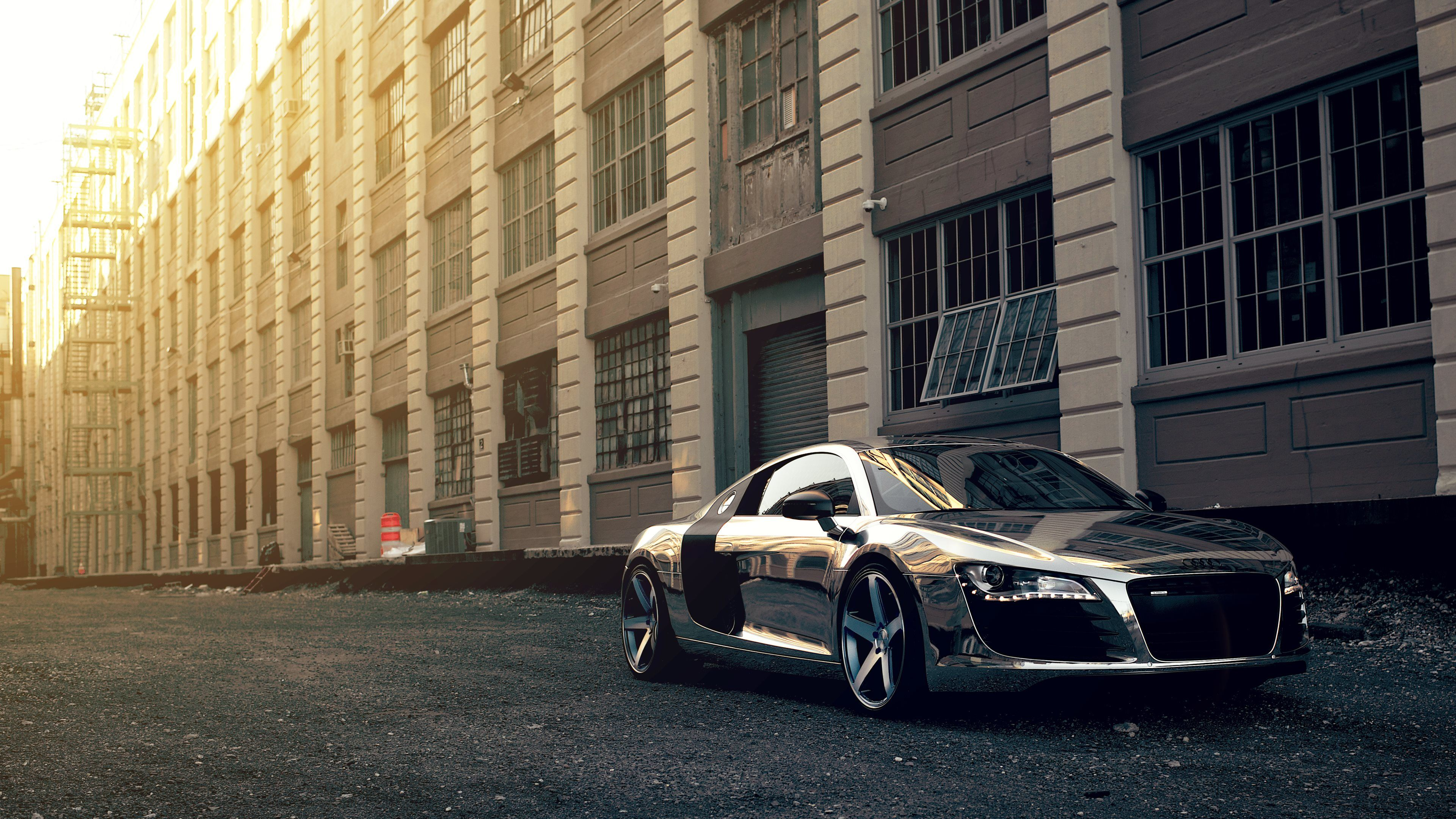 audi r8 chrome Ultra HD 4K Wallpapers