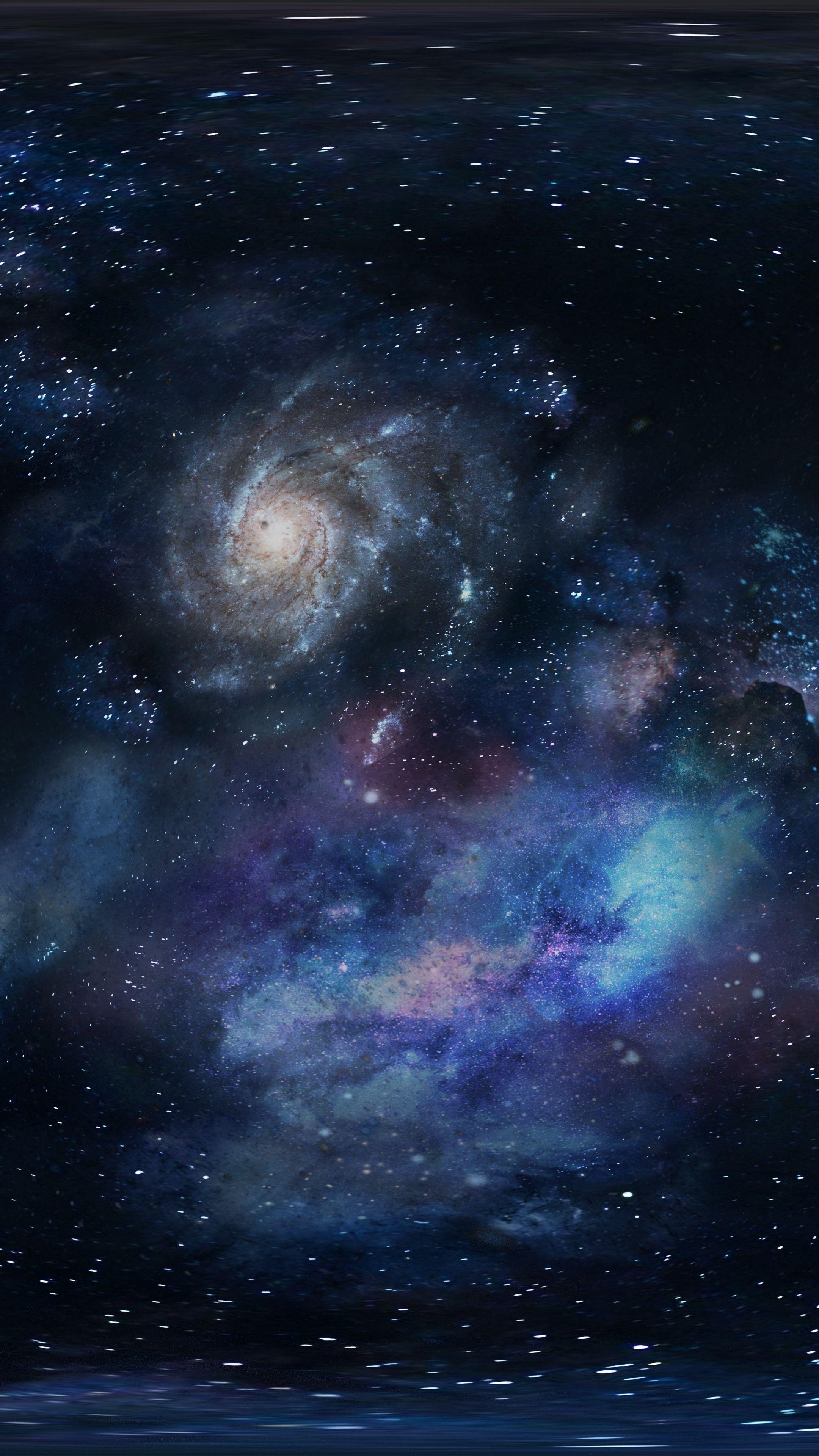 Download wallpapers 2160x3840 galaxy, space, stars samsung galaxy s4