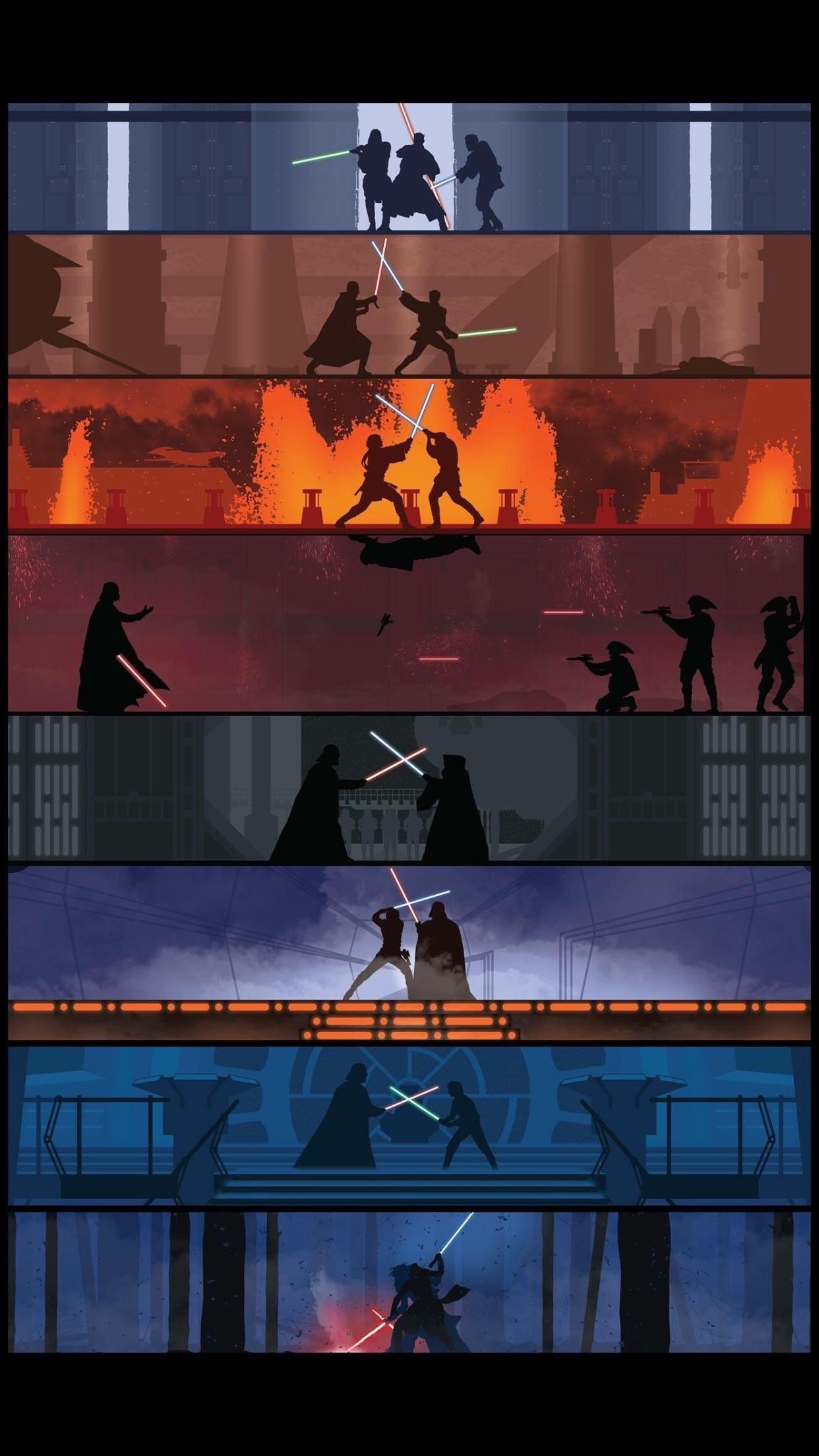 Star Wars Lightsaber Duel Wallpapers - Wallpaper Cave