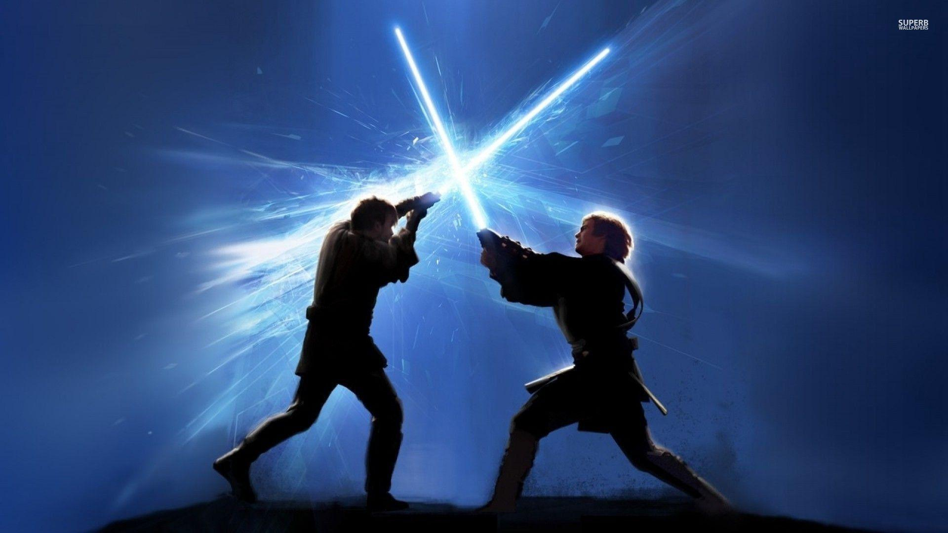 Star Wars Lightsaber Duel Wallpapers Wallpaper Cave