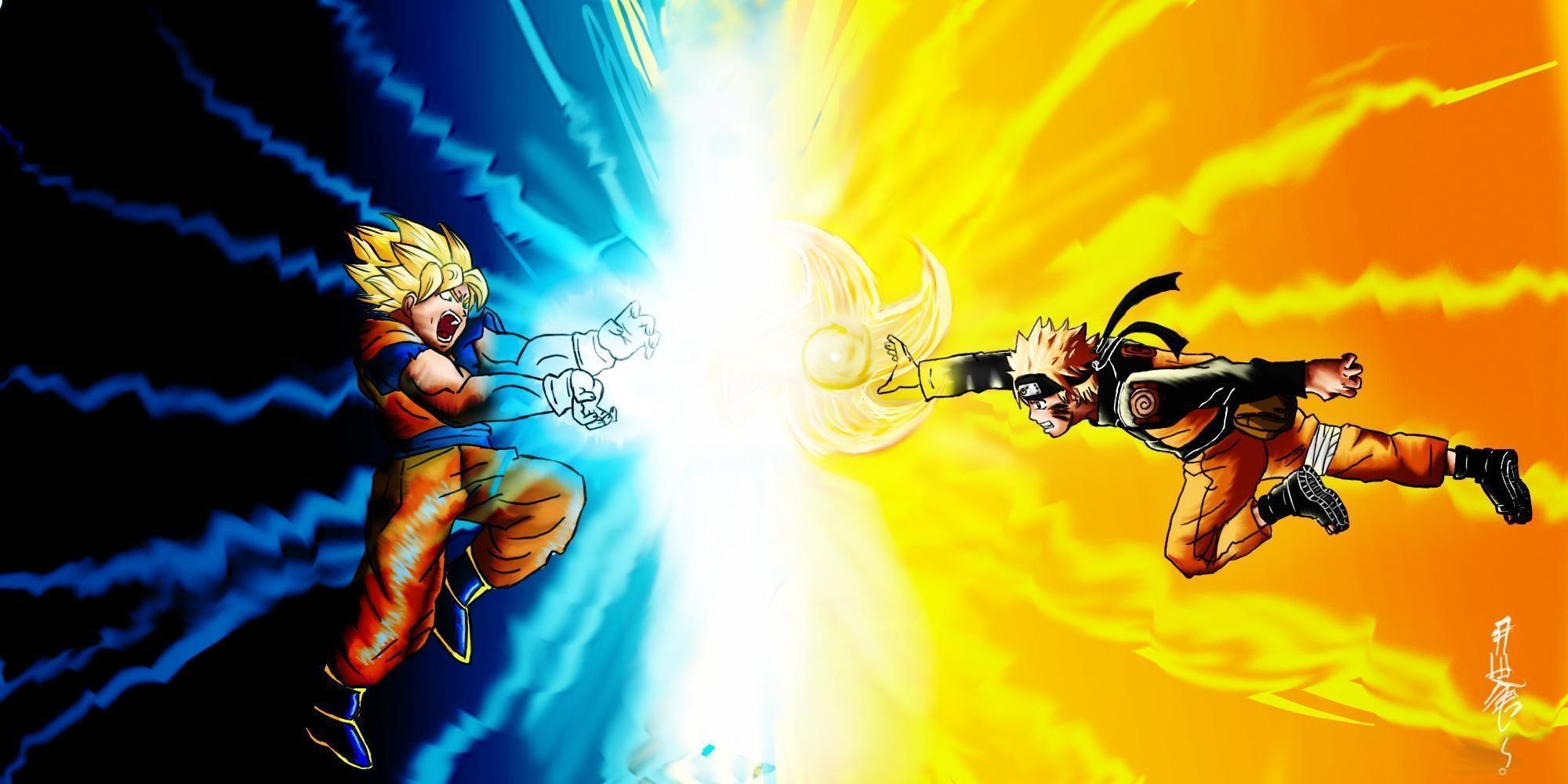 Goku Vs Naruto Wallpapers Wallpaper Cave