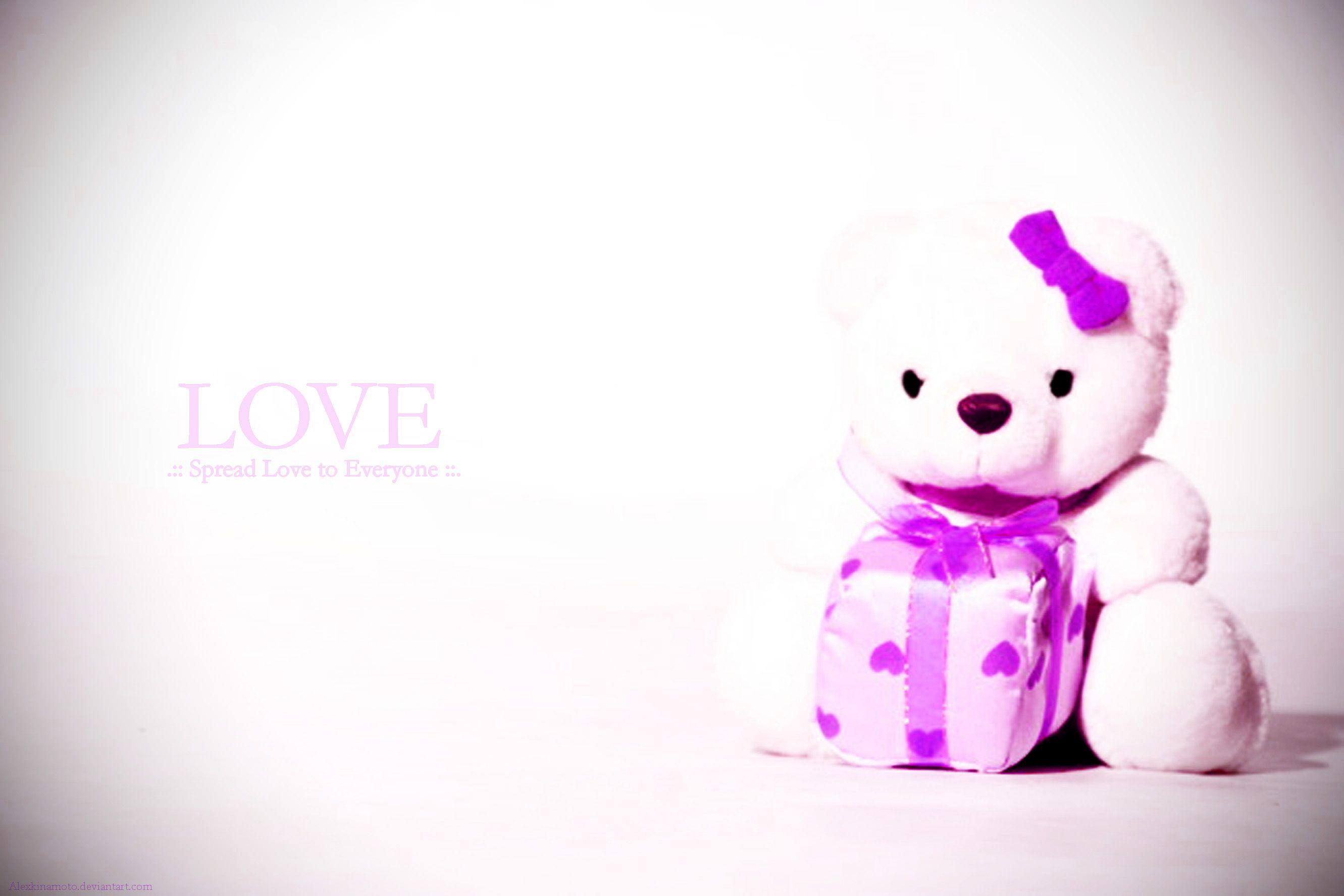 Cute Love Teddy Bear Wallpapers Wallpaper Cave