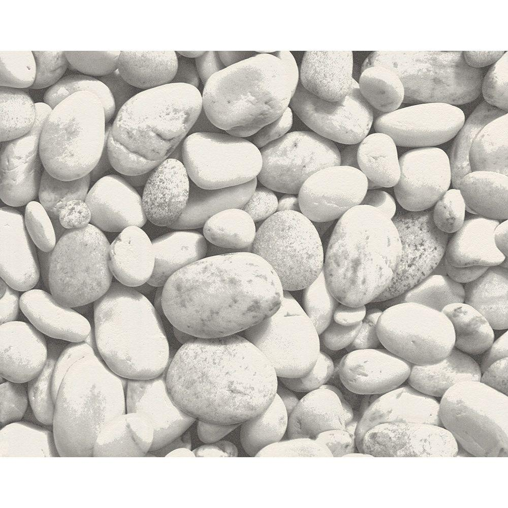 AS Creation Pebble Stones Pattern Photo Vinyl Mural Wallpaper 861016 ...
