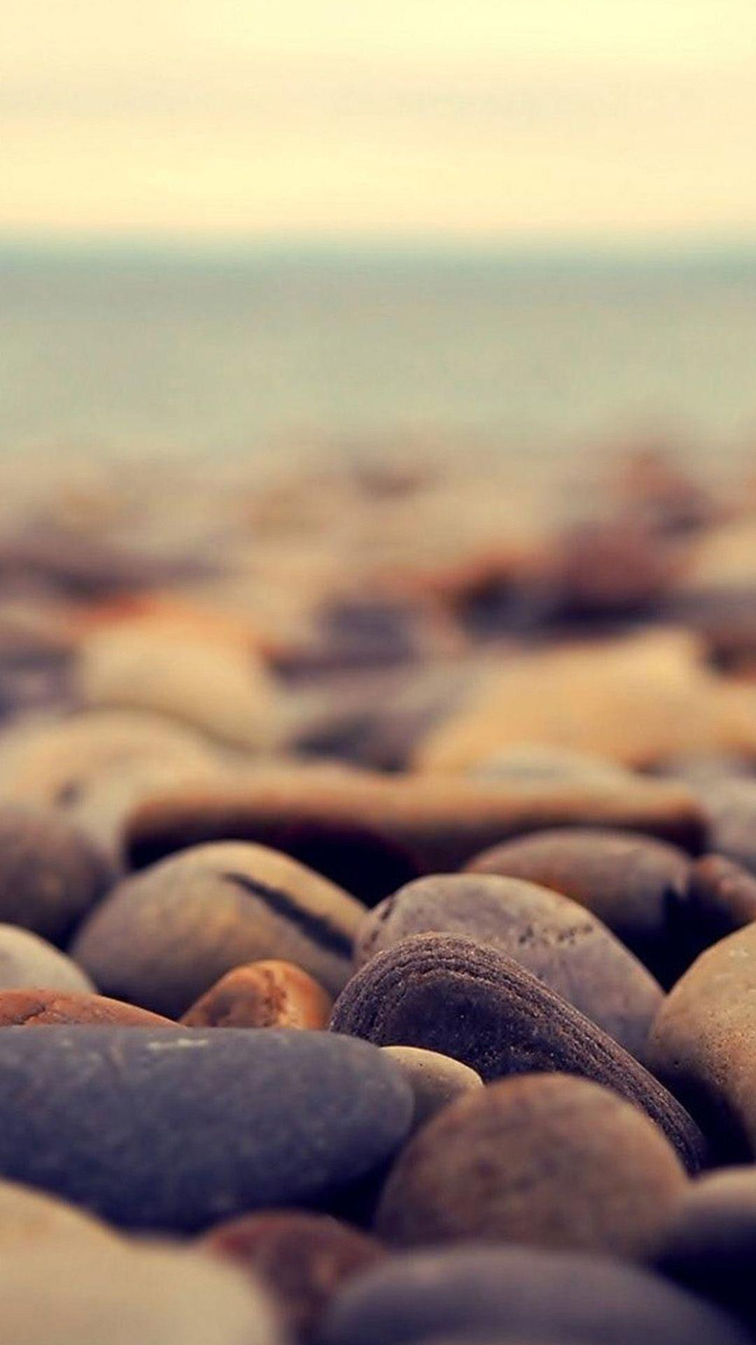 Ocean Beach Pebble Rocks Blur #iPhone #7 #wallpaper | iPhone 8 ...