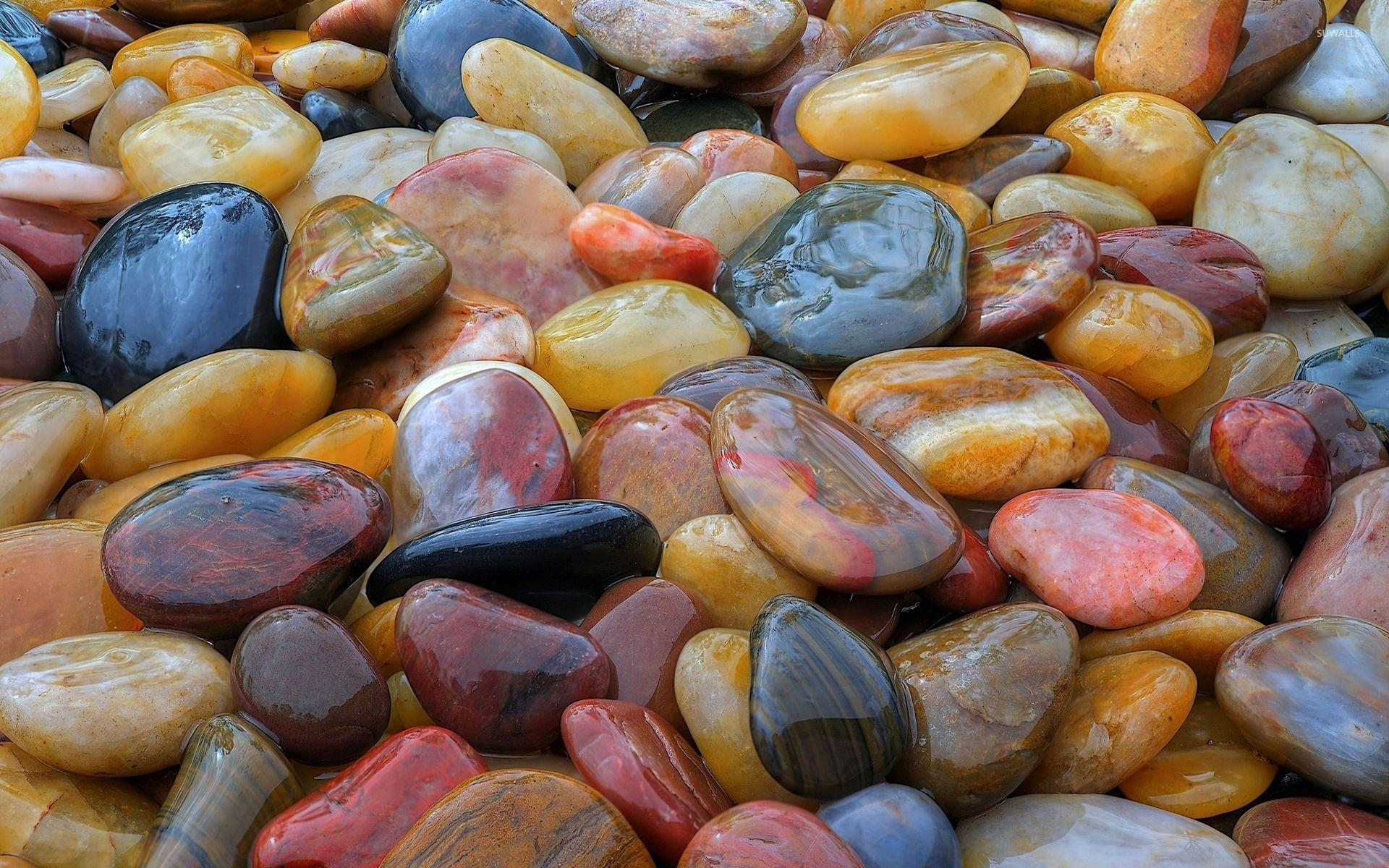 Shiny pebbles wallpaper - Photography wallpapers - #36481