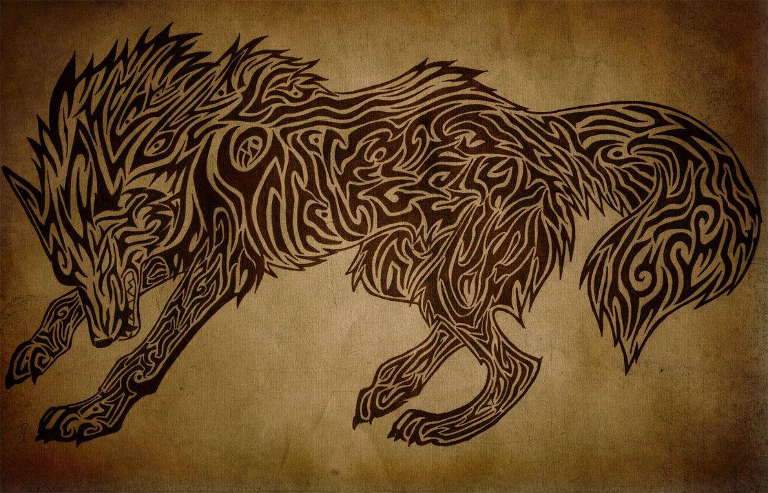 068dd49b Angry Tribal Wolf by Hedeltrez on DeviantArt