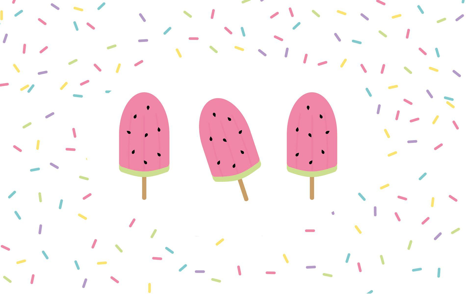 Watermelon popsicle desktop wallpapers – Make and Tell