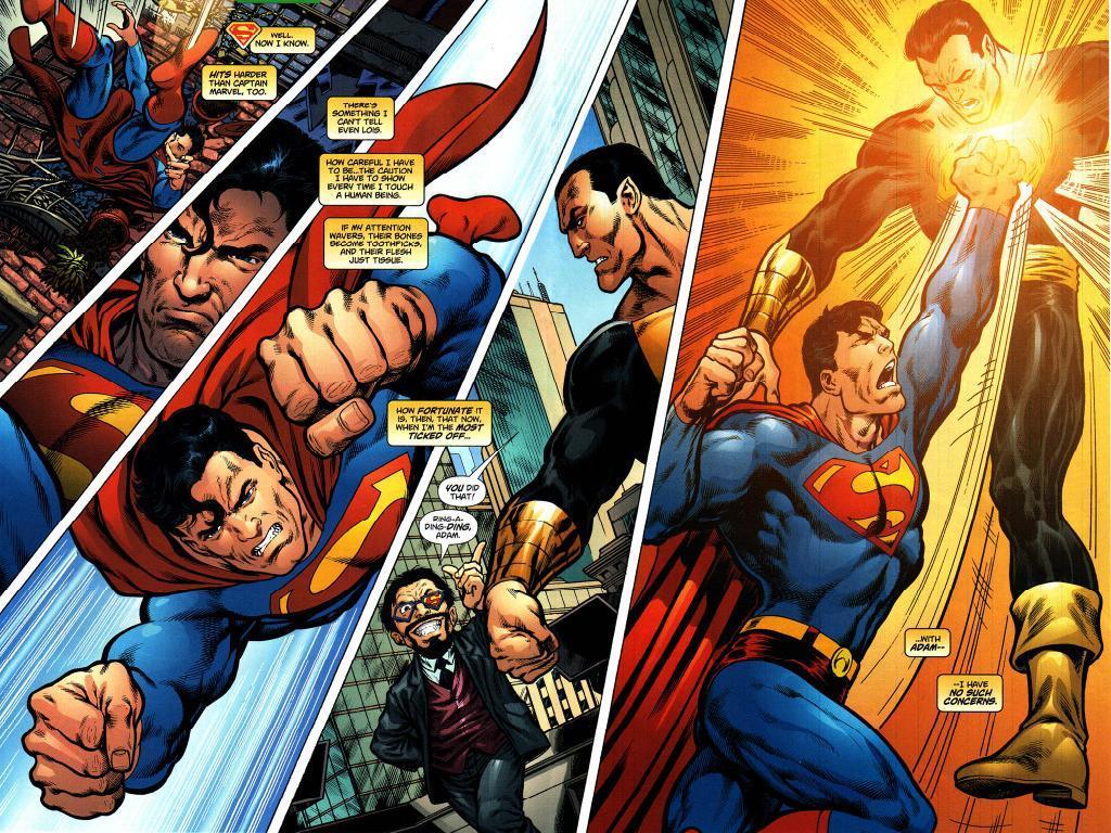 Superman Vs Black Adam Wallpaper
