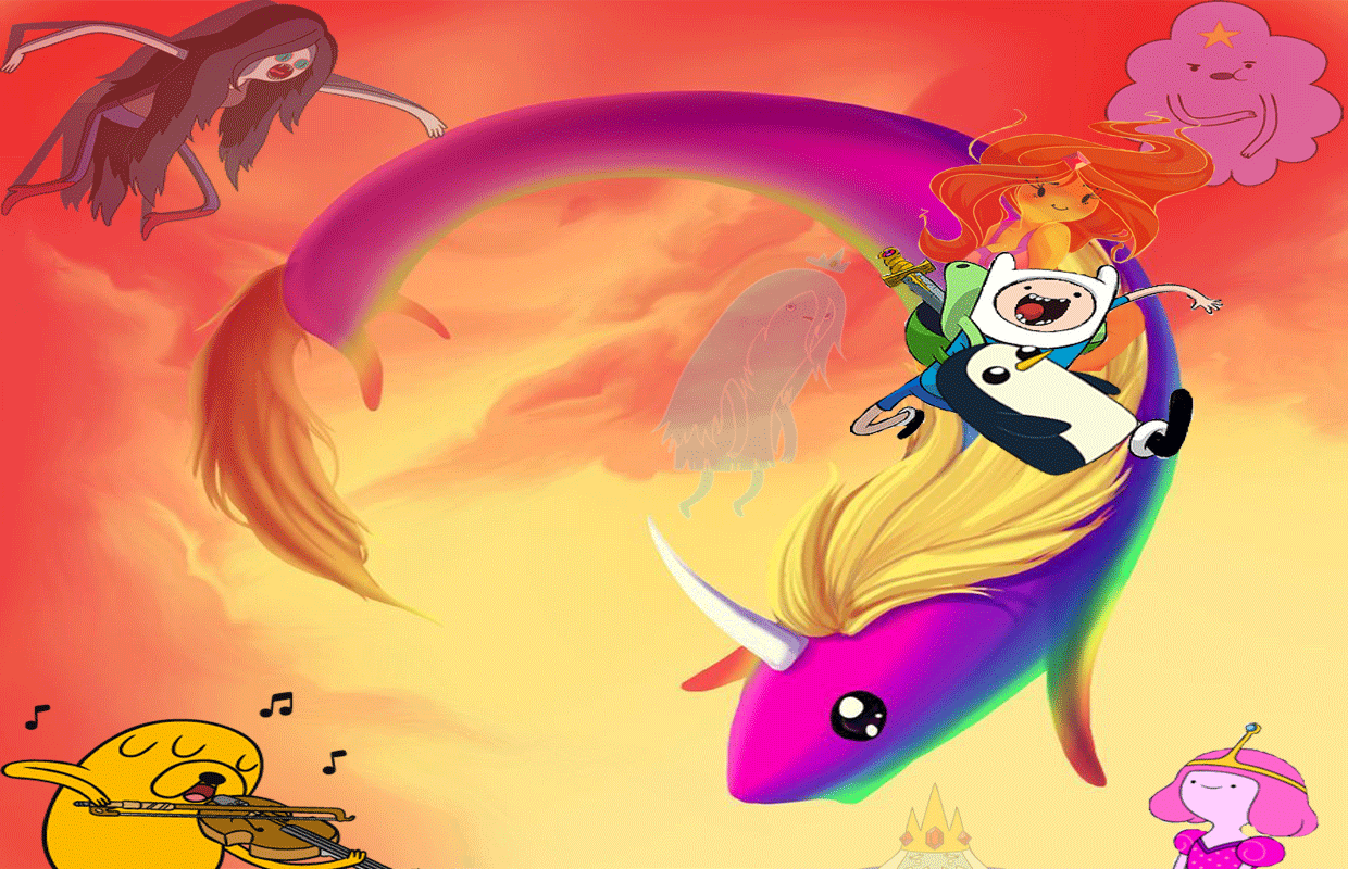 Adventure Time with Finn and Jake wallpapers by HystericDesigns on