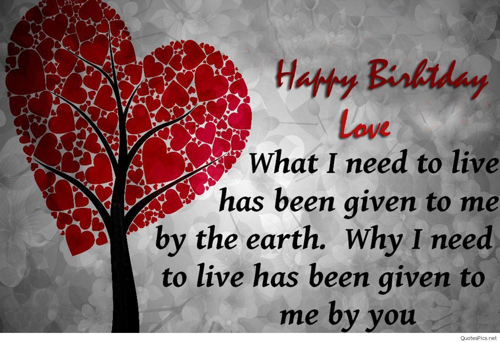 Happy Birthday My Love Quotes Hd Wallpapers Pics Beautiful Image