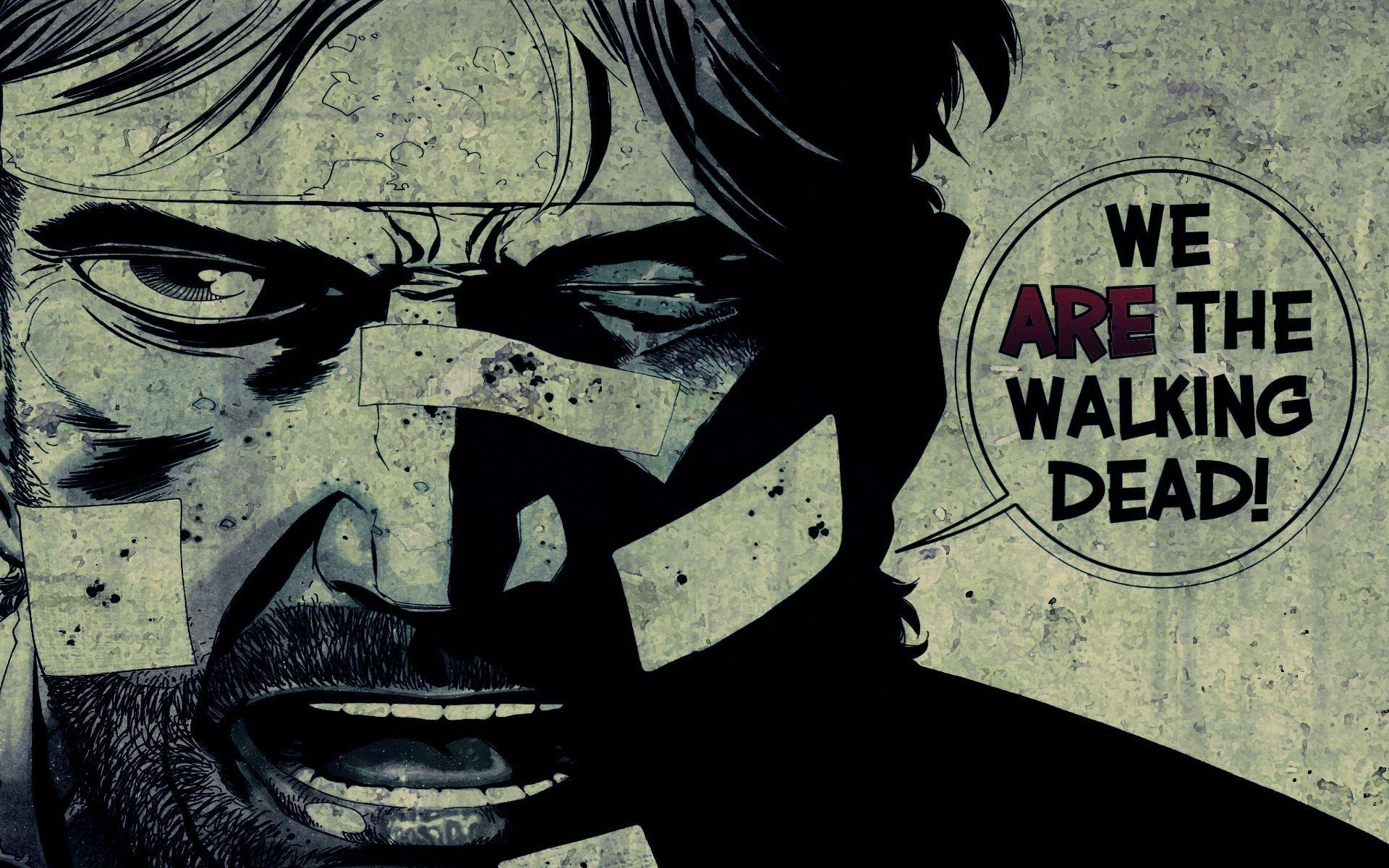 Walking Dead Comic Rick Backgrounds On Wallpaper 1080p HD
