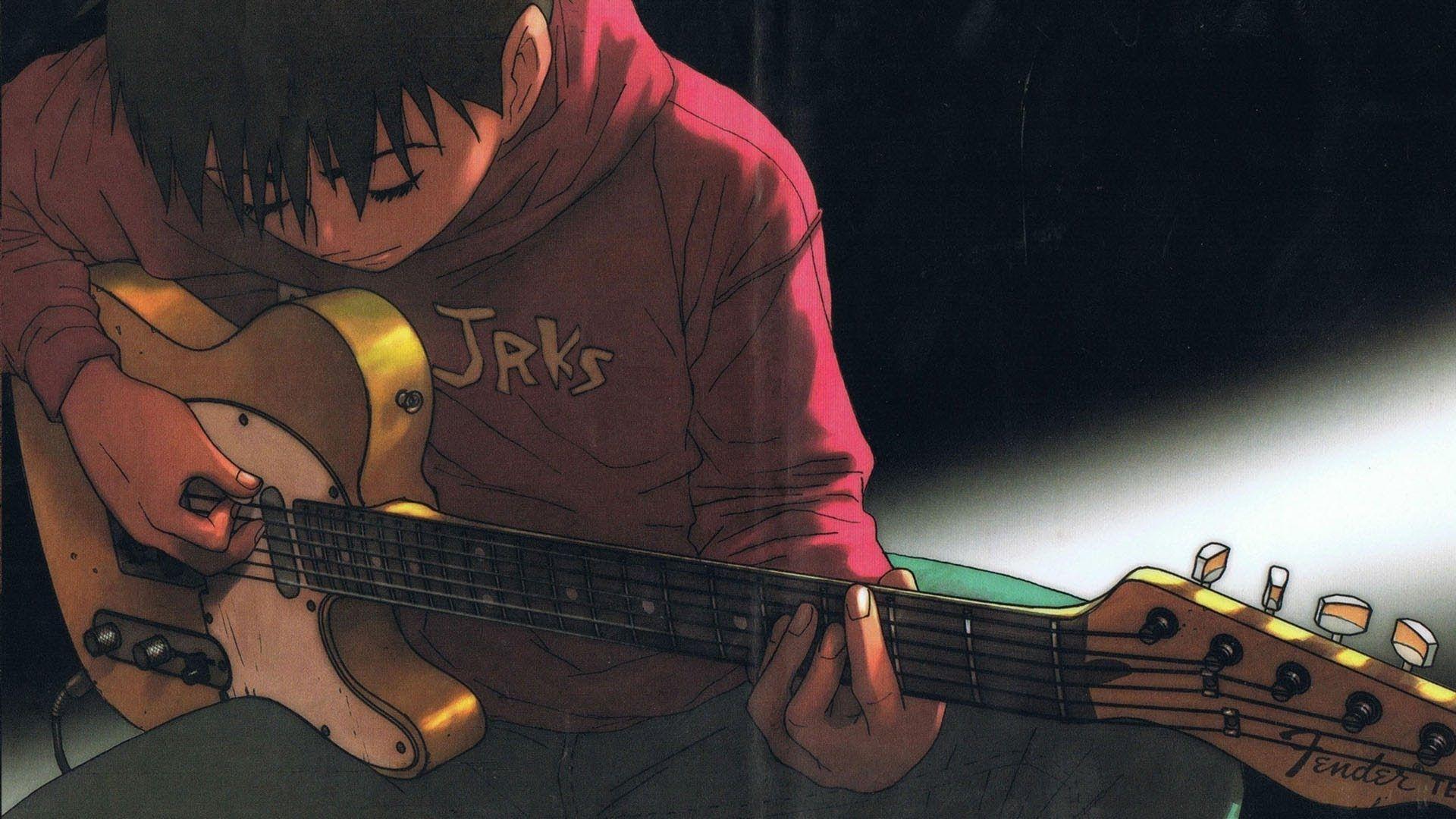 Sad anime guy with guitar wallpapers wallpaper cave - Cartoon boy wallpaper ...