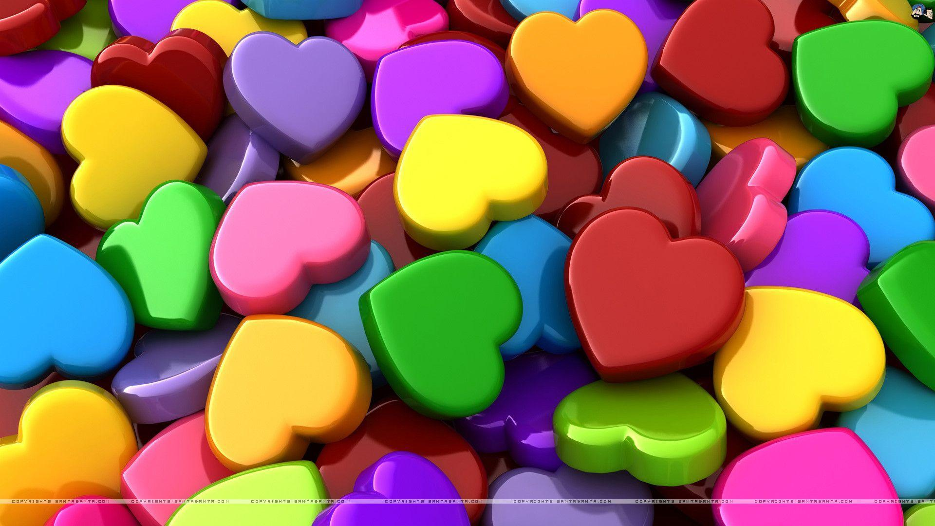 Colorful Hearts Wallpapers Wallpaper Cave For 3d Heart Loversiq