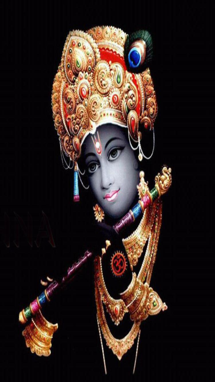 God Krishna with black background iphone hd wallpapers | iPhone .