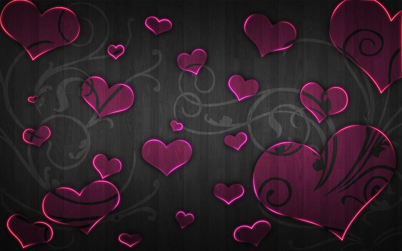 Purple And Black Hearts Wallpapers Wallpaper Cave