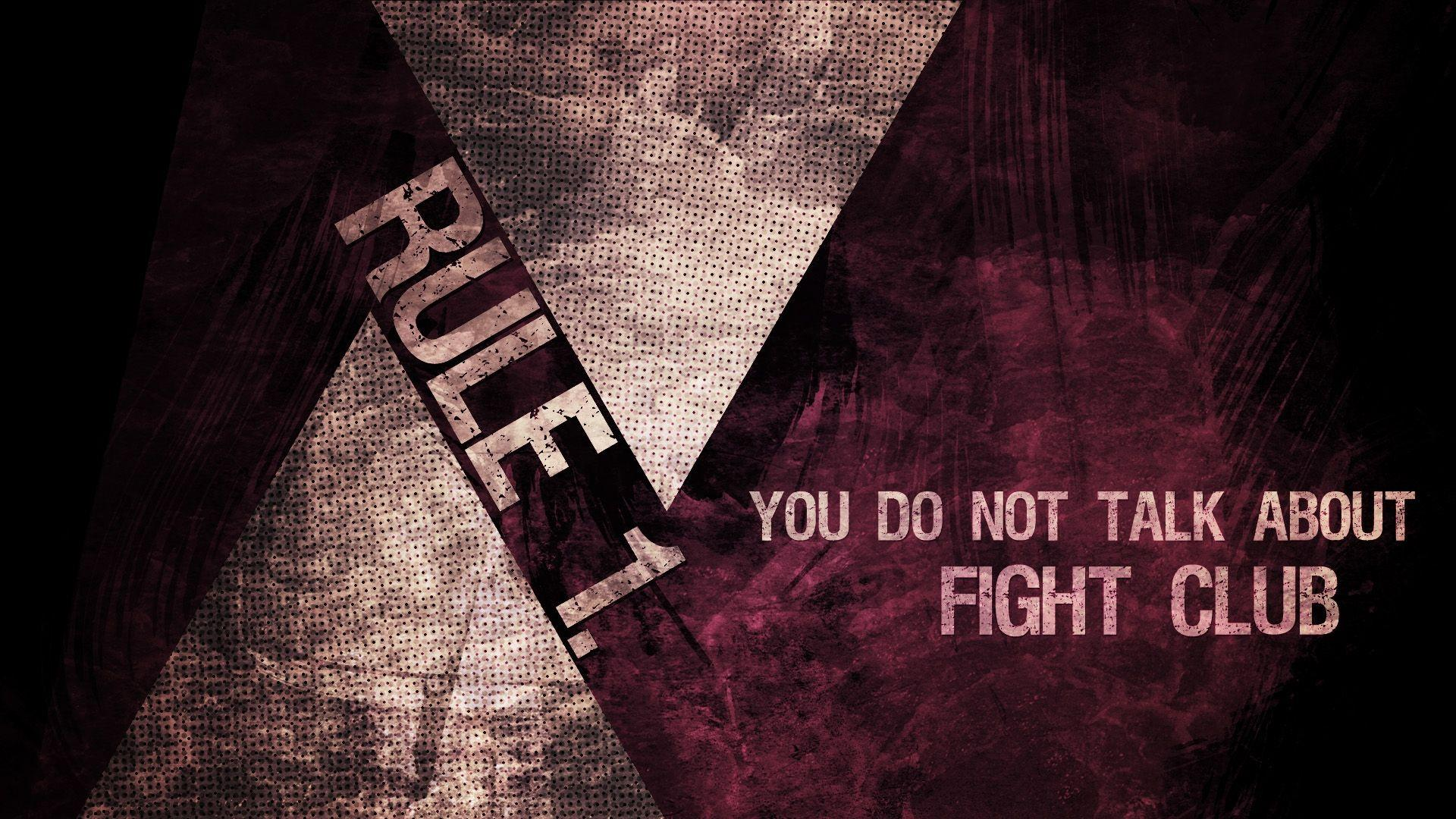 Download Wallpaper 1920x1080 fight club, rule, you do not talk about ...