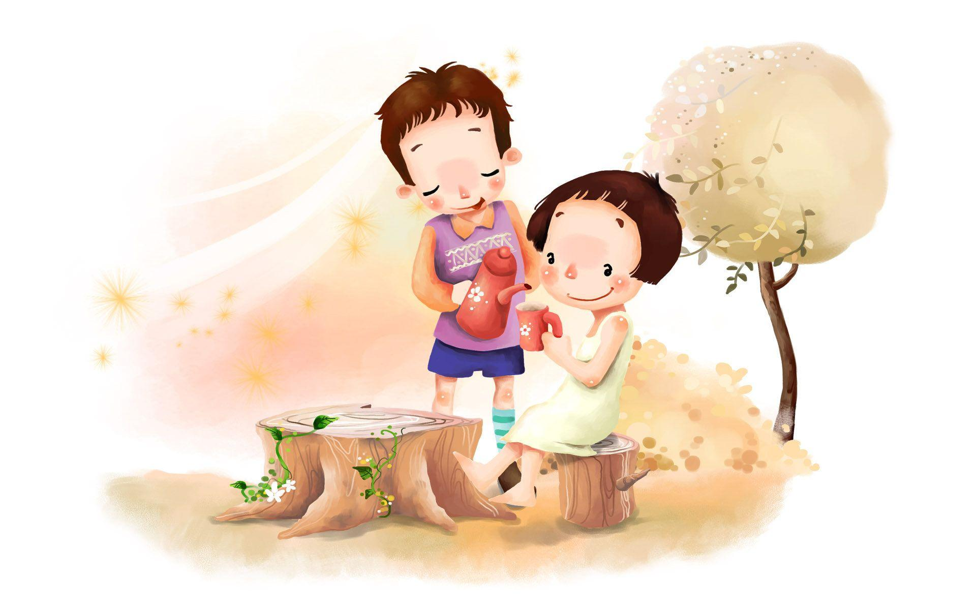 Cute Cartoon Love Couple Wallpapers - Wallpaper Cave