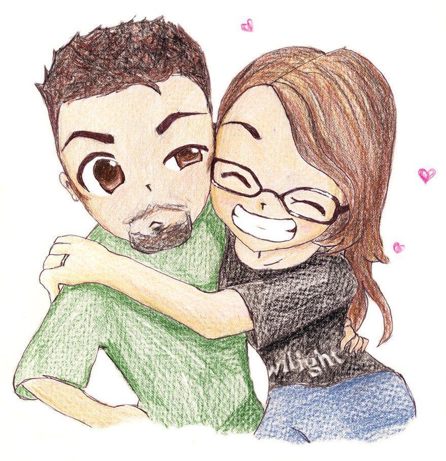 Cute Cartoon Love Couple Wallpapers Wallpaper Cave