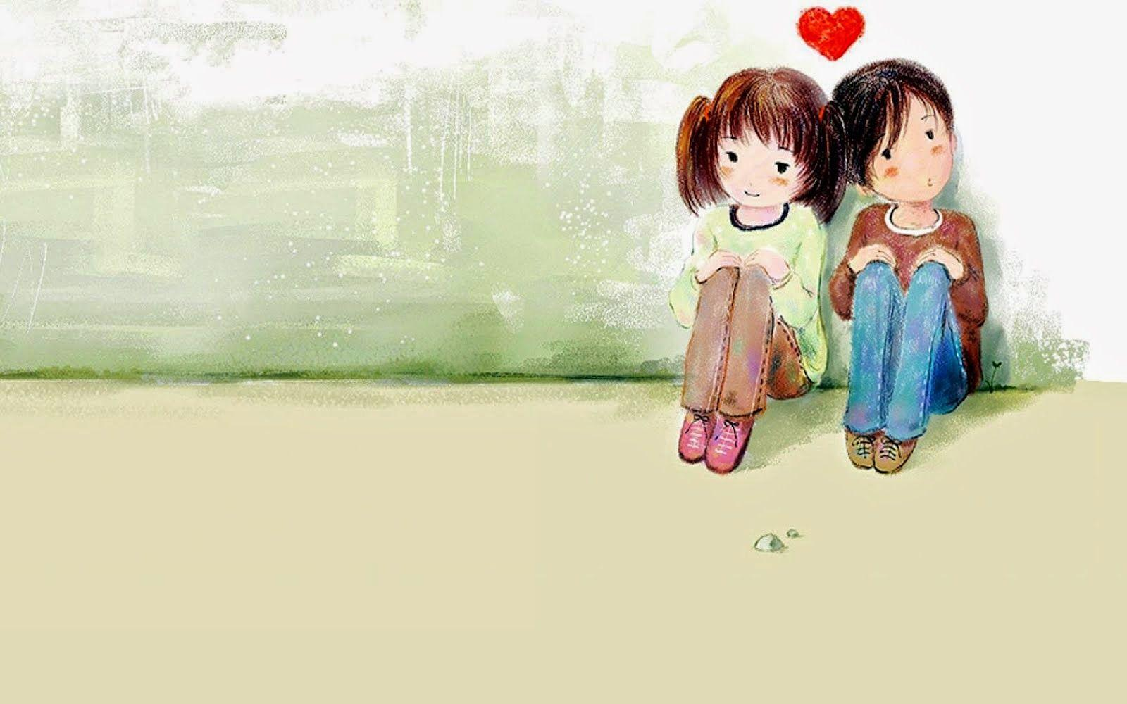 Couple images cartoon full hd wallpaper pics for computer love and