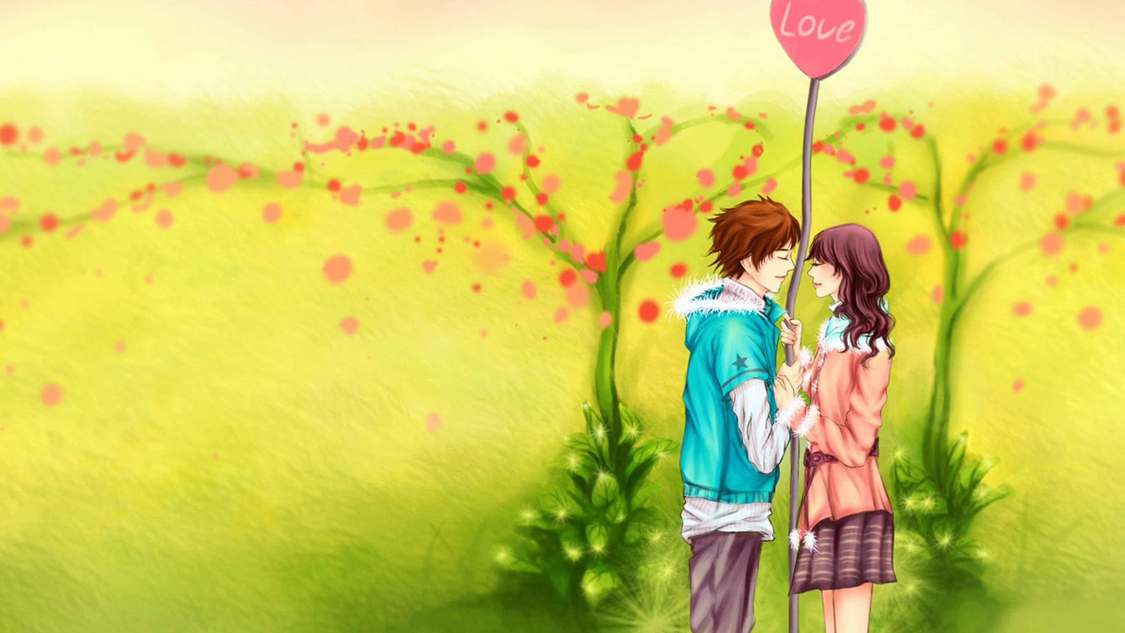 3d Love Couple Cartoon Wallpapers Download - 3d Wallpapers