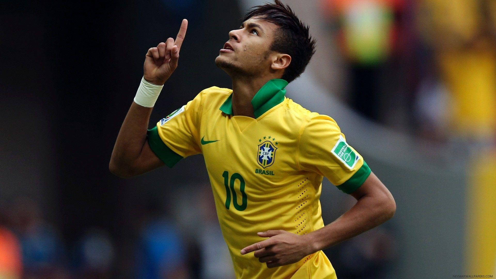 Neymar in Brazil yellow jersey wallpaper - Neymar Wallpapers