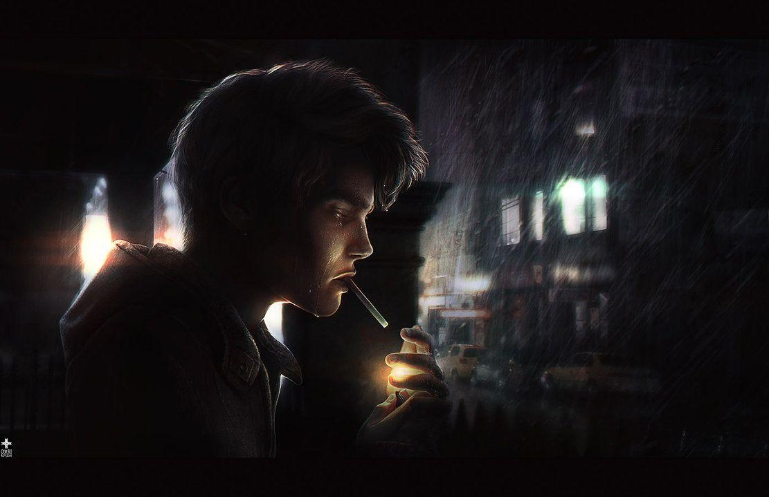 Alone Boy Smoking Pic