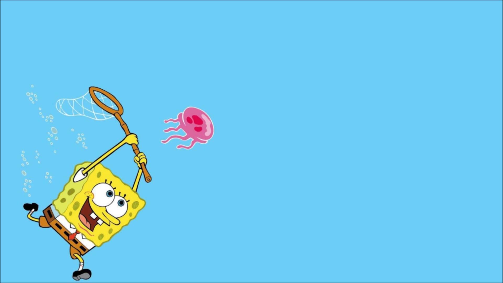 Spongebob Flower Sky Backgrounds Wallpaper Cave