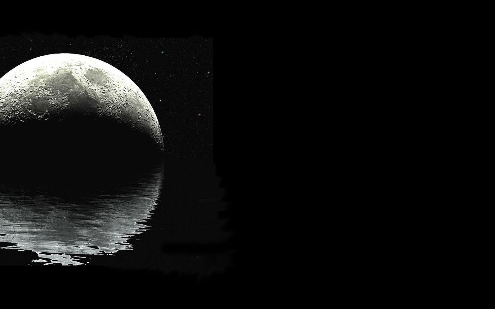 4000 Wallpaper Black Moon HD Gratis