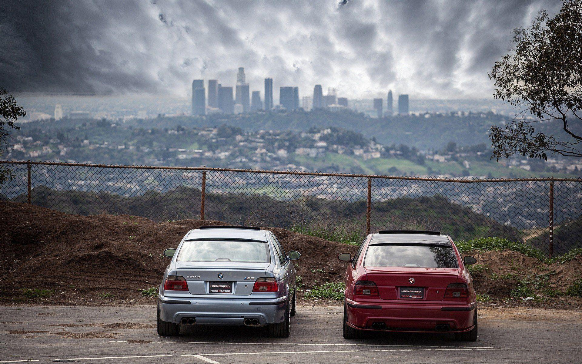 m5 e39 bmw fencing red blue back of HD wallpapers