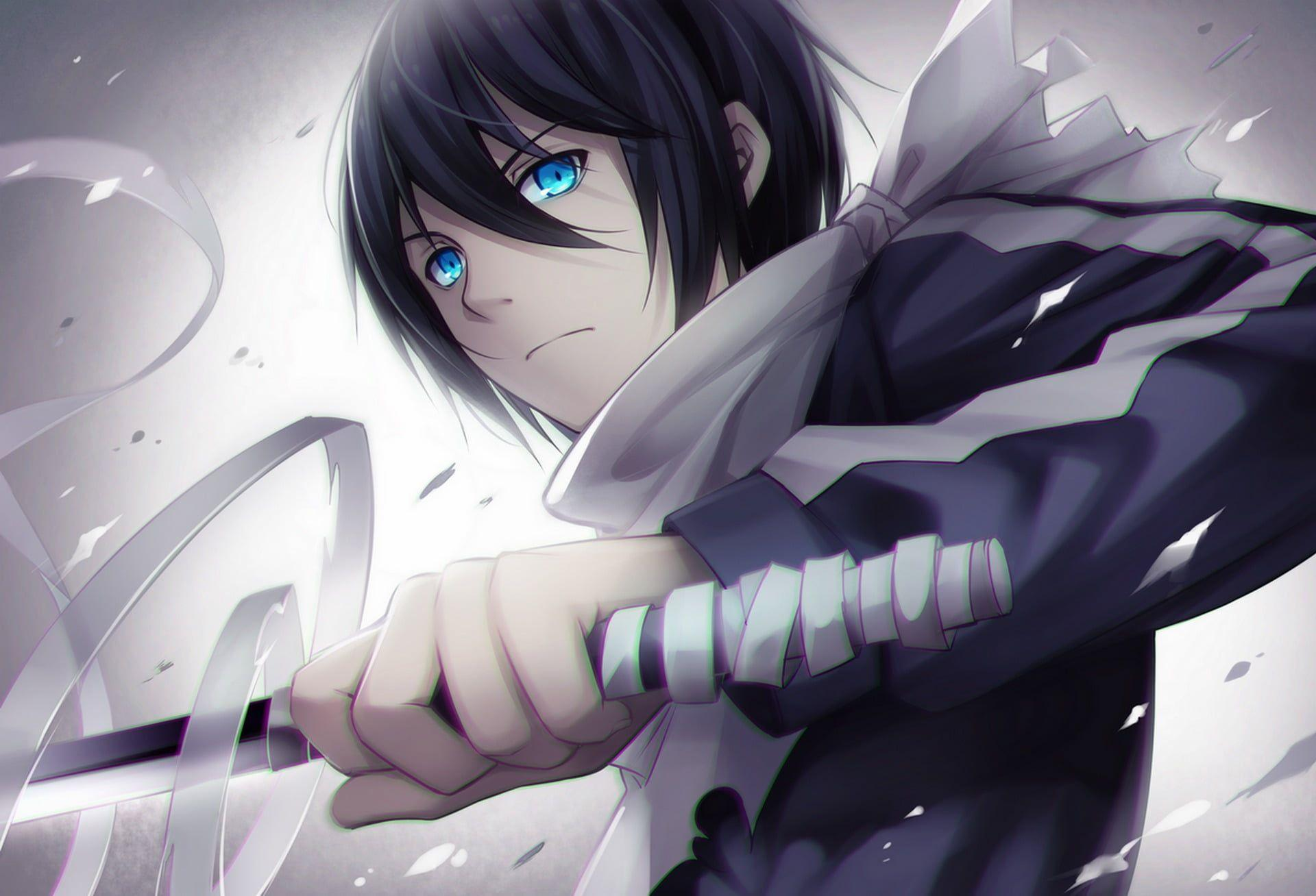 Anime Male Character Holding Sword Hd Wallpaper Wallpaper Flare