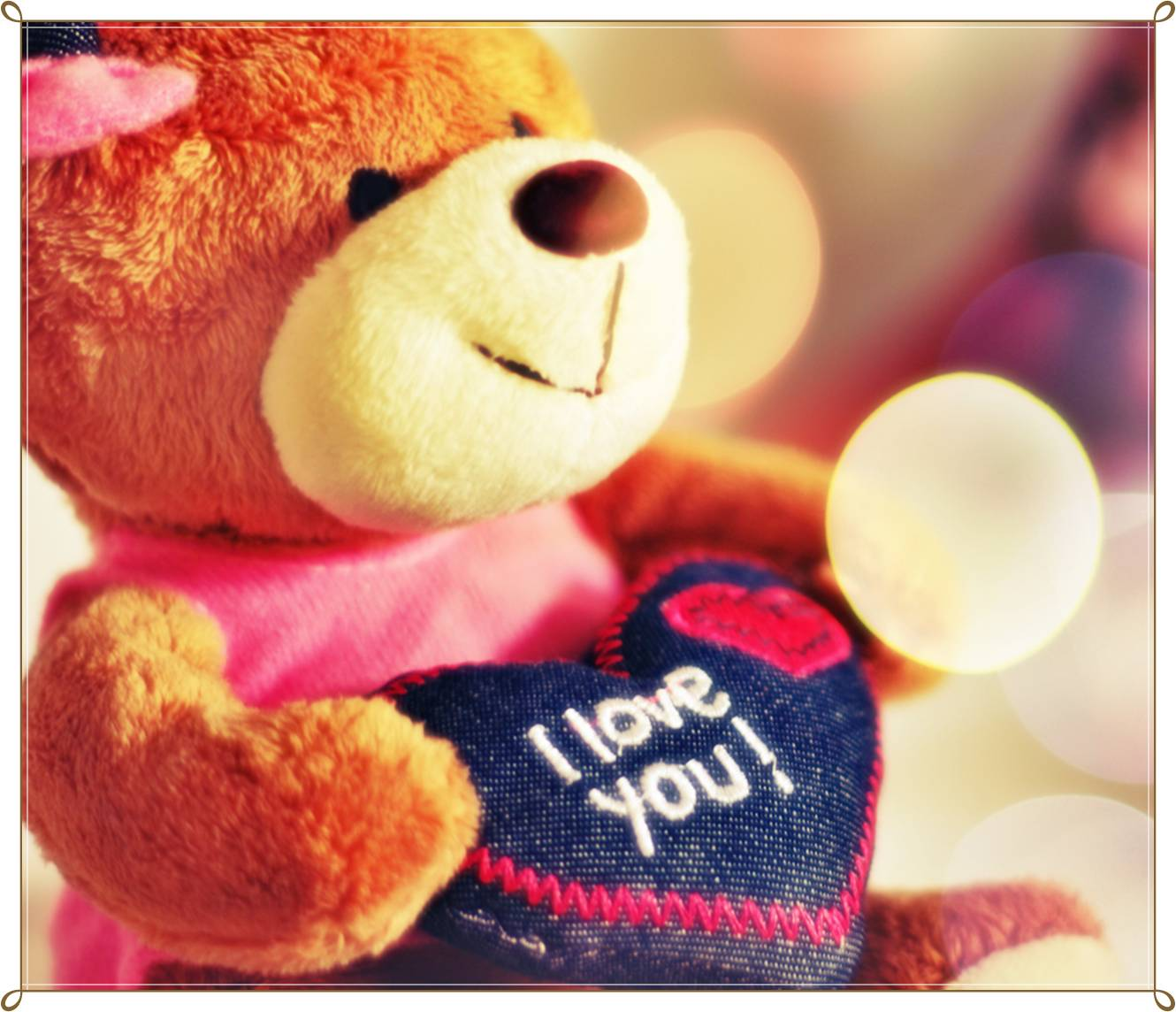 i love you teddy bear hd wallpapers - wallpaper cave