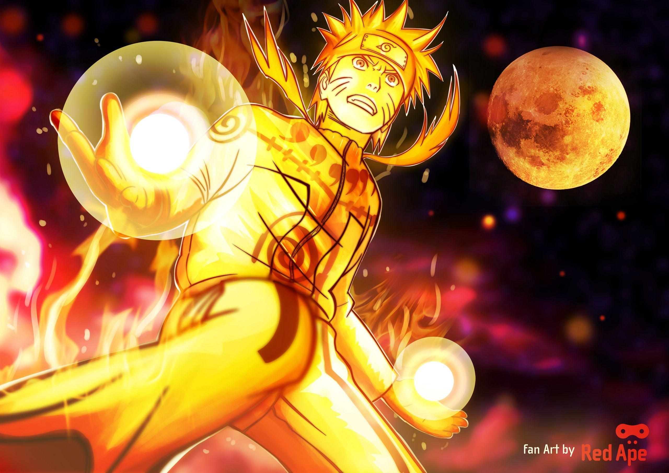 Naruto Nine Tails Sage Mode Wallpapers Wallpaper Cave