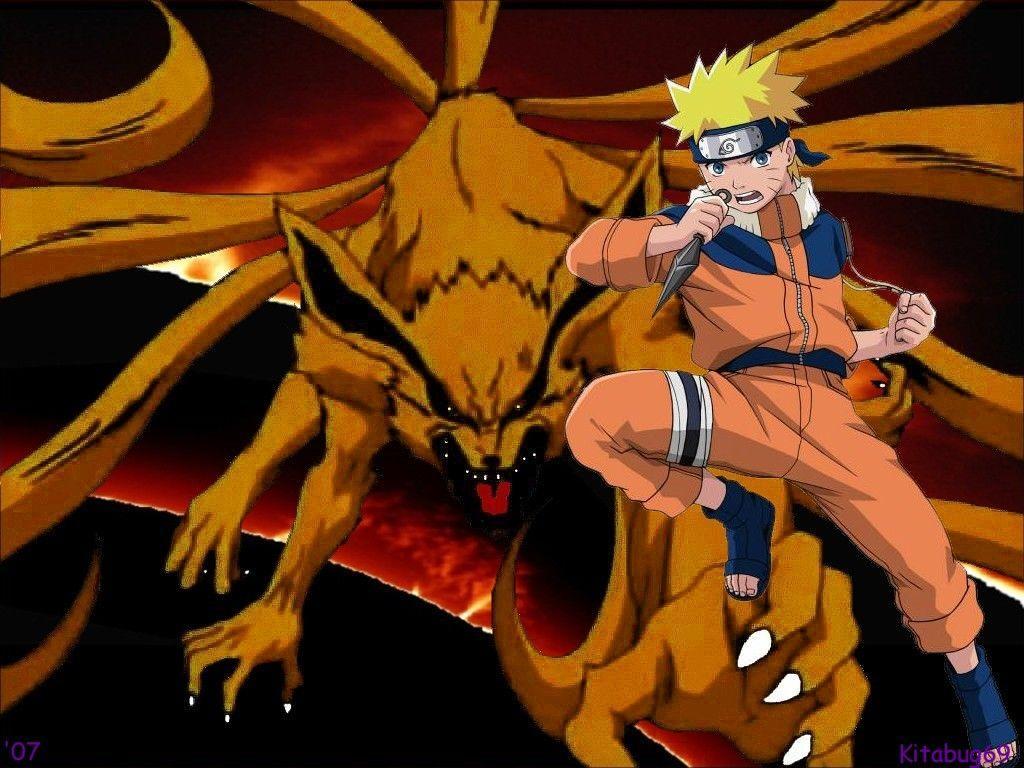 Naruto Shippuden Nineed Fox Mode Wallpaper Cartoons
