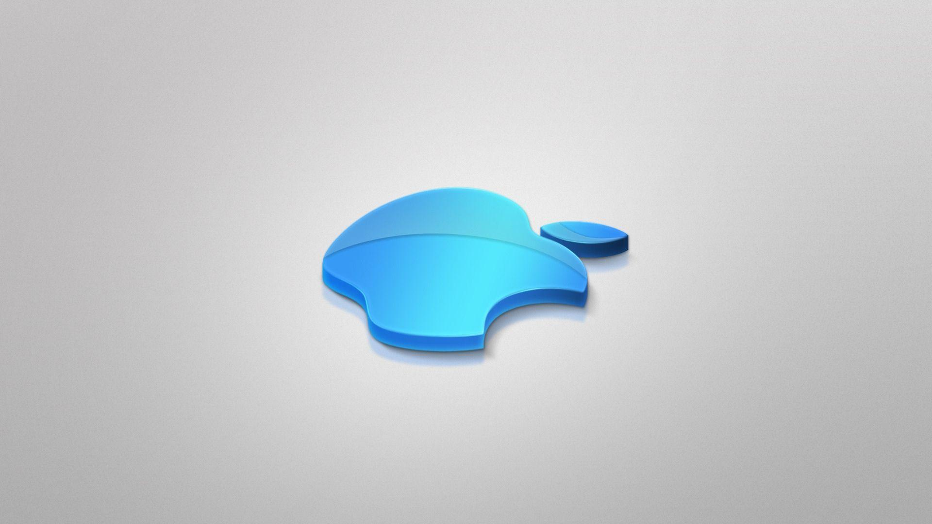 Apple Blue 3d 1080p Wallpapers