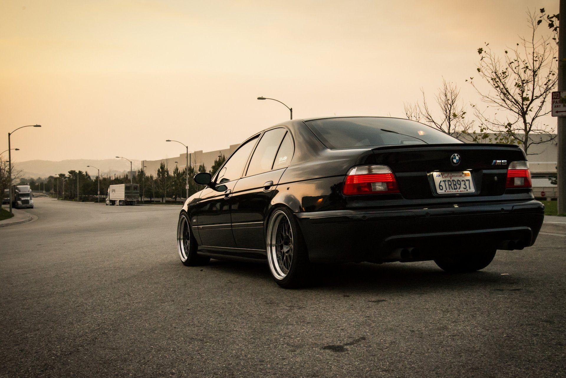 bmw e39 m5 bmw light bbs black tuning stance road HD wallpapers