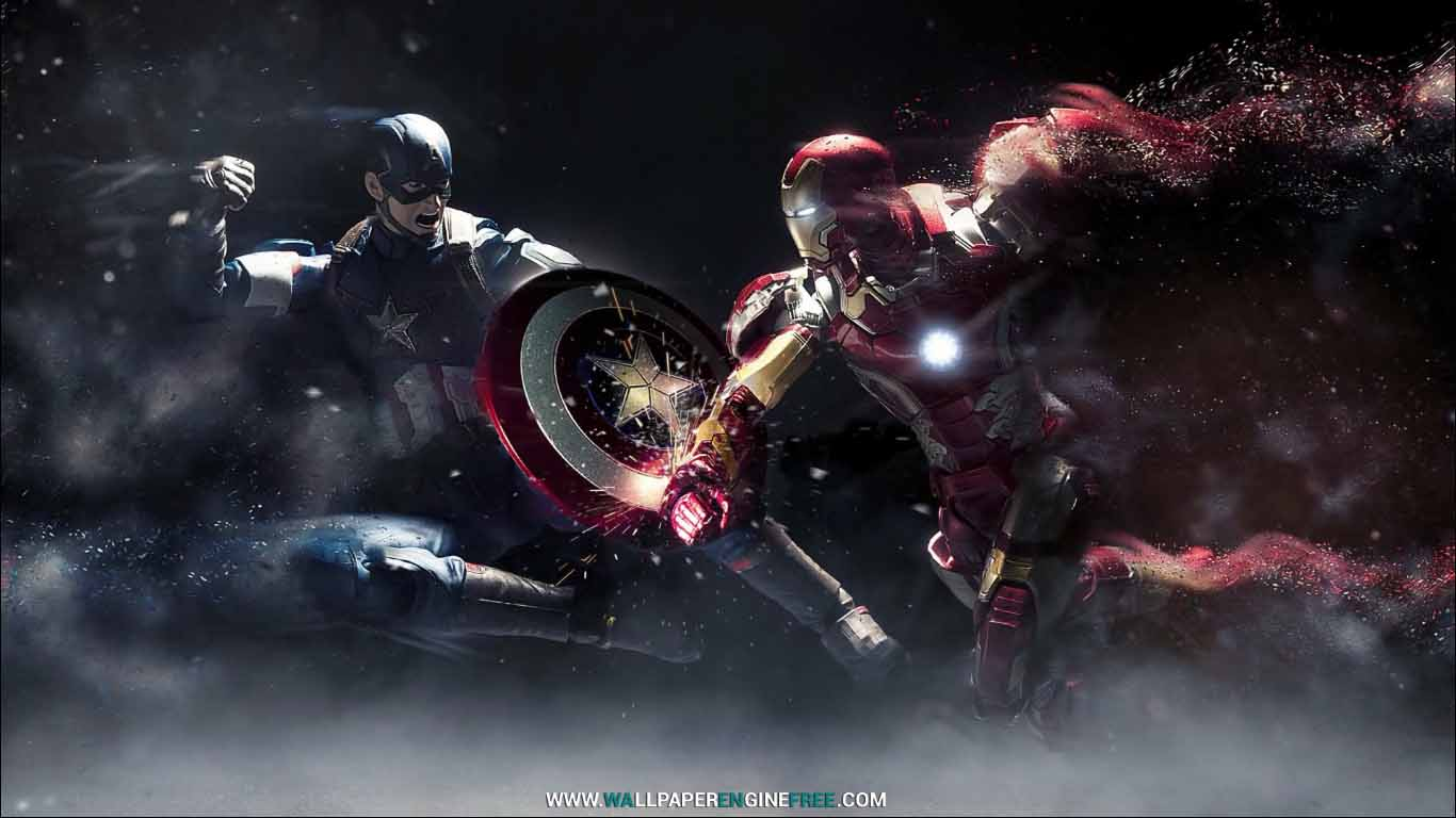 Captain America vs Iron Man (1080P) Wallpaper Engine | FREE .