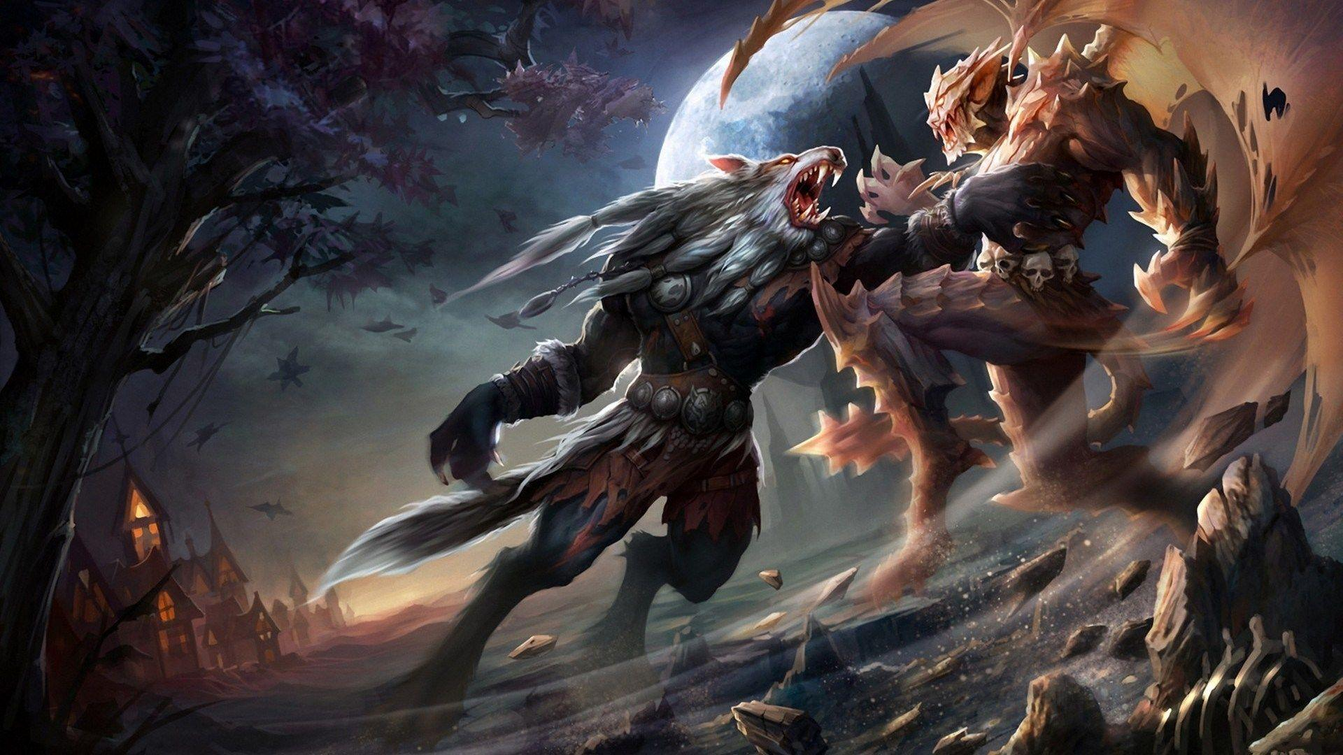 Werewolf Fight Wallpapers Wallpaper Cave