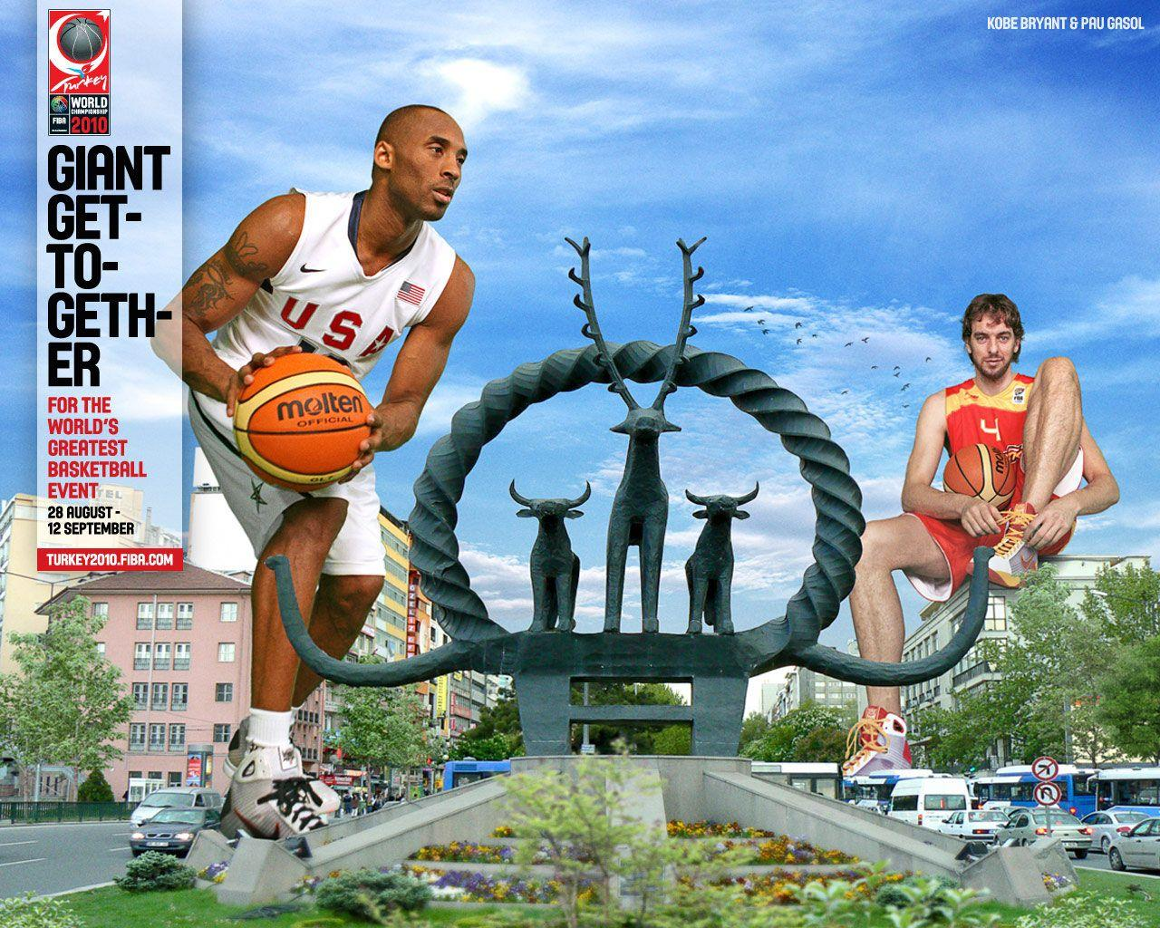kobe bryant and pau gasol fiba world championship 2010 wallpapers photo