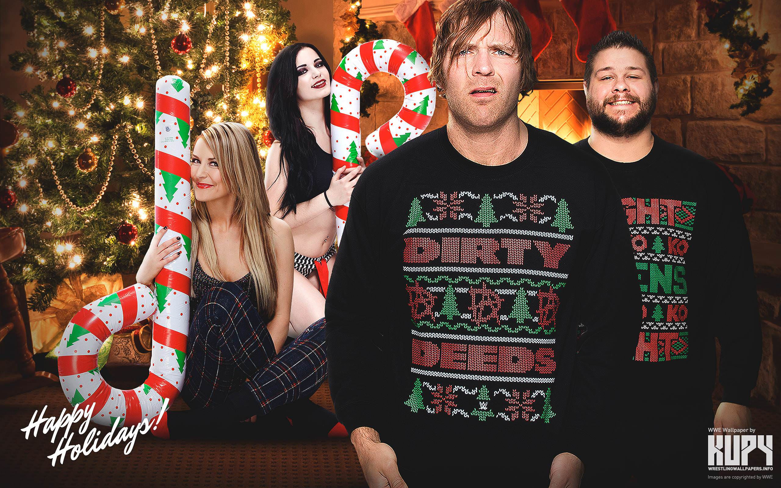 NEW Happy Holidays 2015 WWE wallpaper! - Kupy Wrestling Wallpapers ...