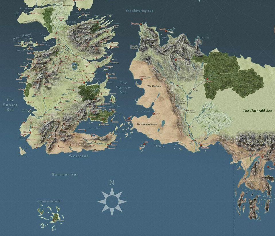 Game Of Thrones Map Wallpapers Wallpaper Cave