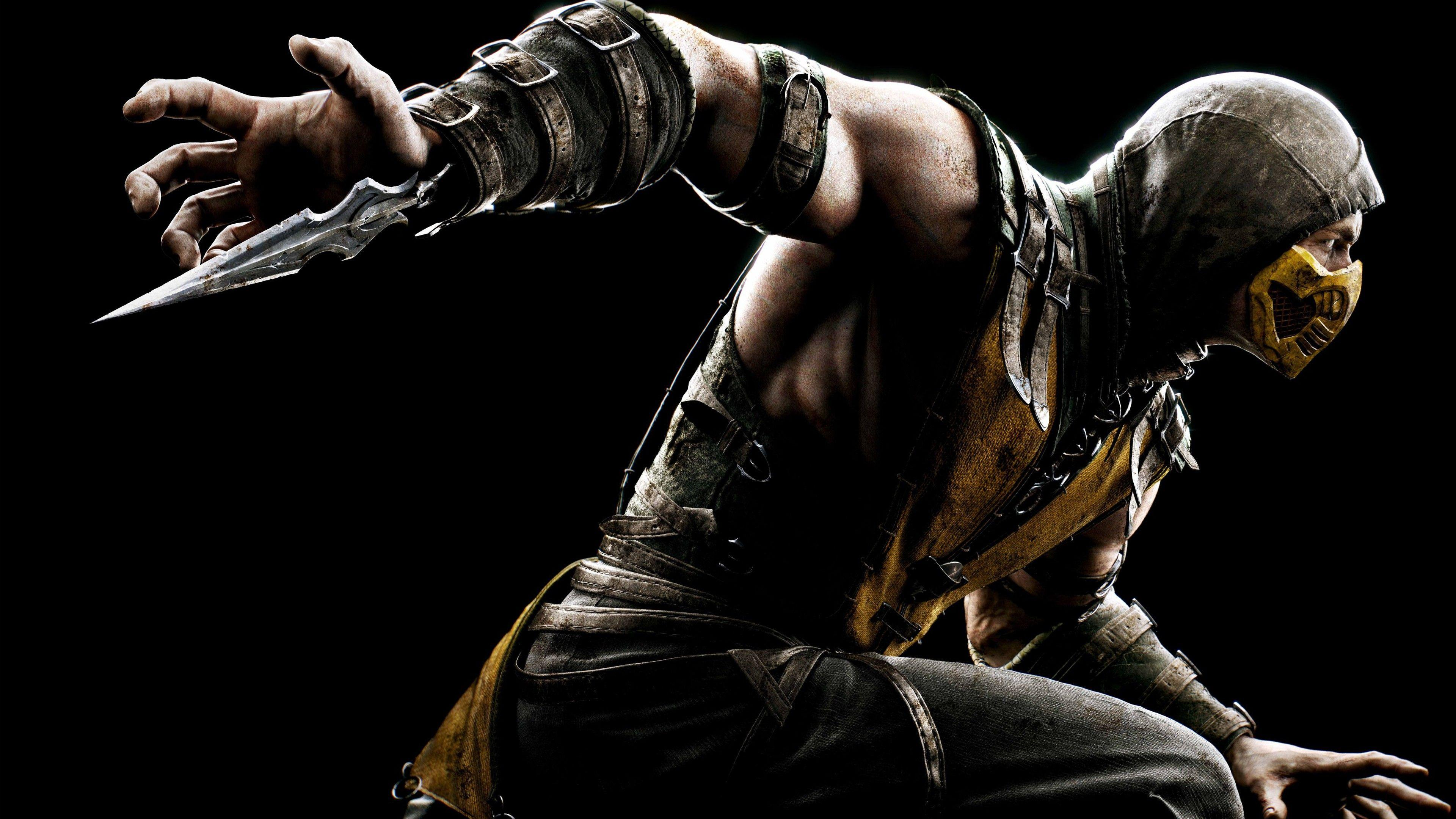 Games Scorpion in Mortal Kombat X wallpapers