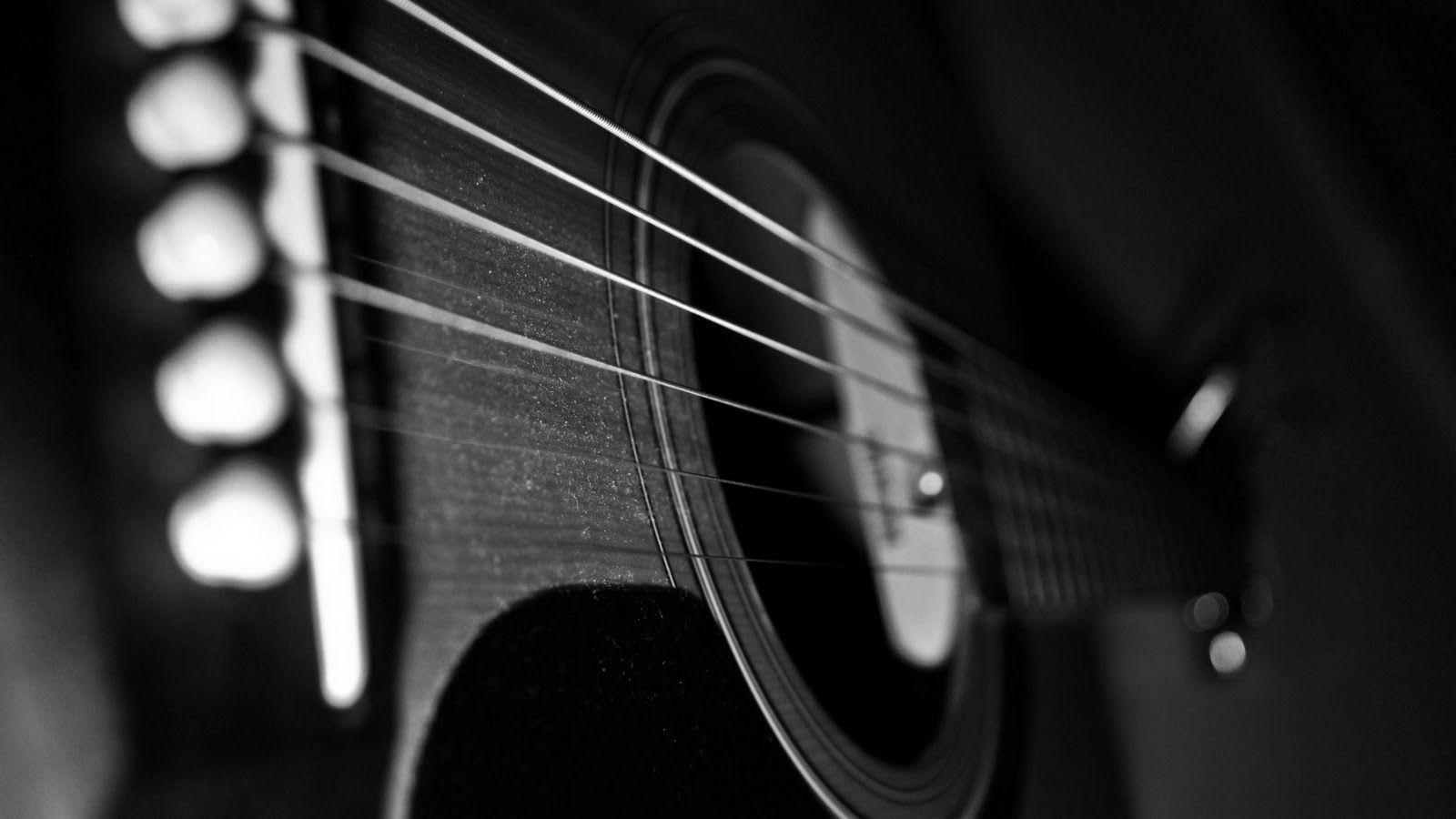 Acoustic Black guitar wallpaper pictures images