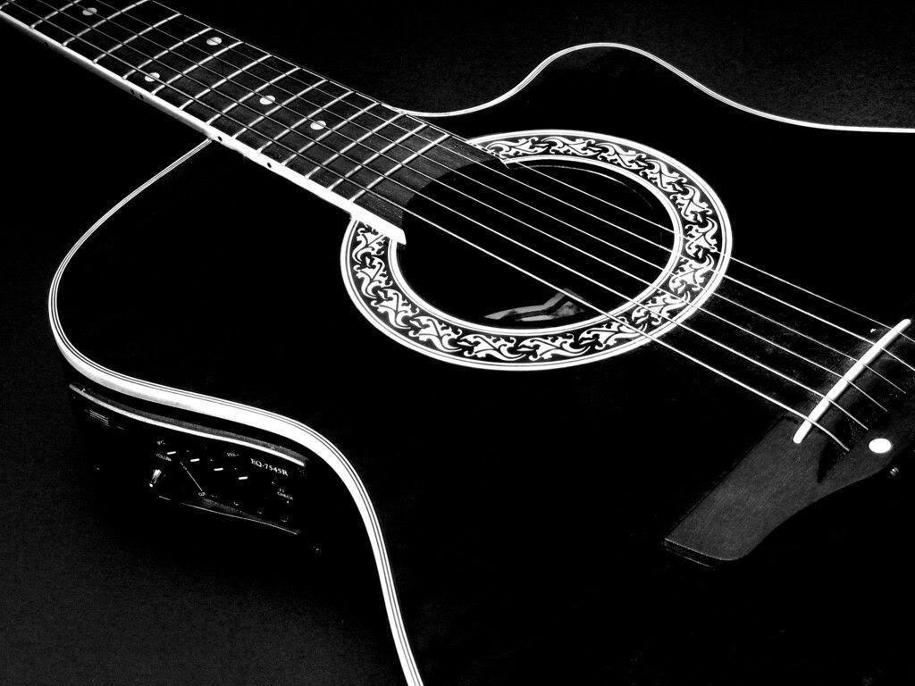 Black Acoustic Guitar Wallpapers Wallpaper Cave