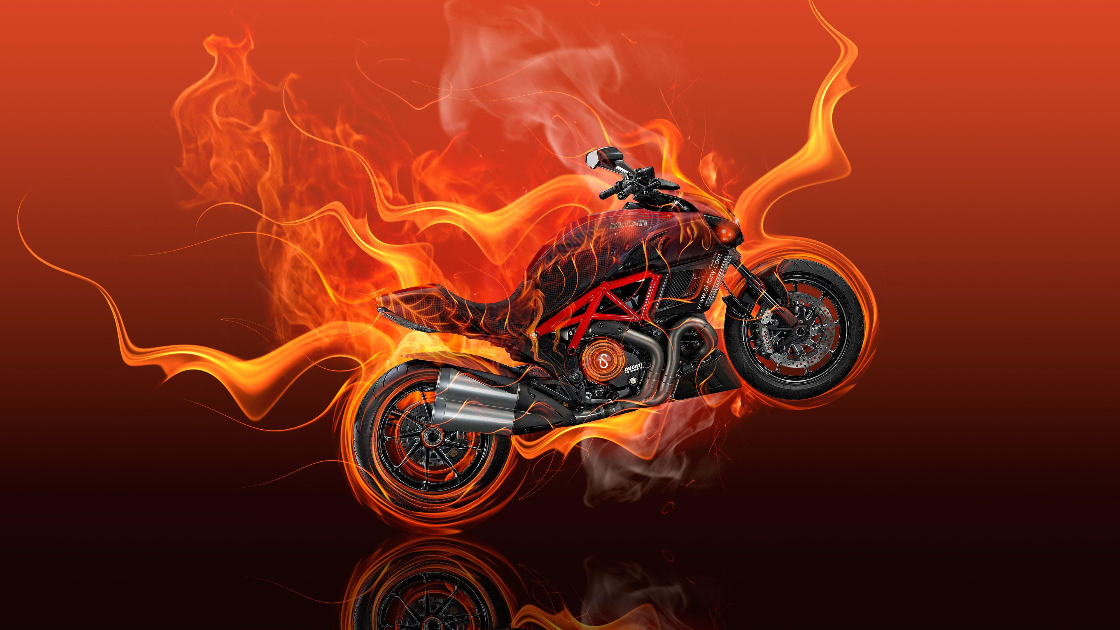 Group of Ducati 1199 Fire Abstract
