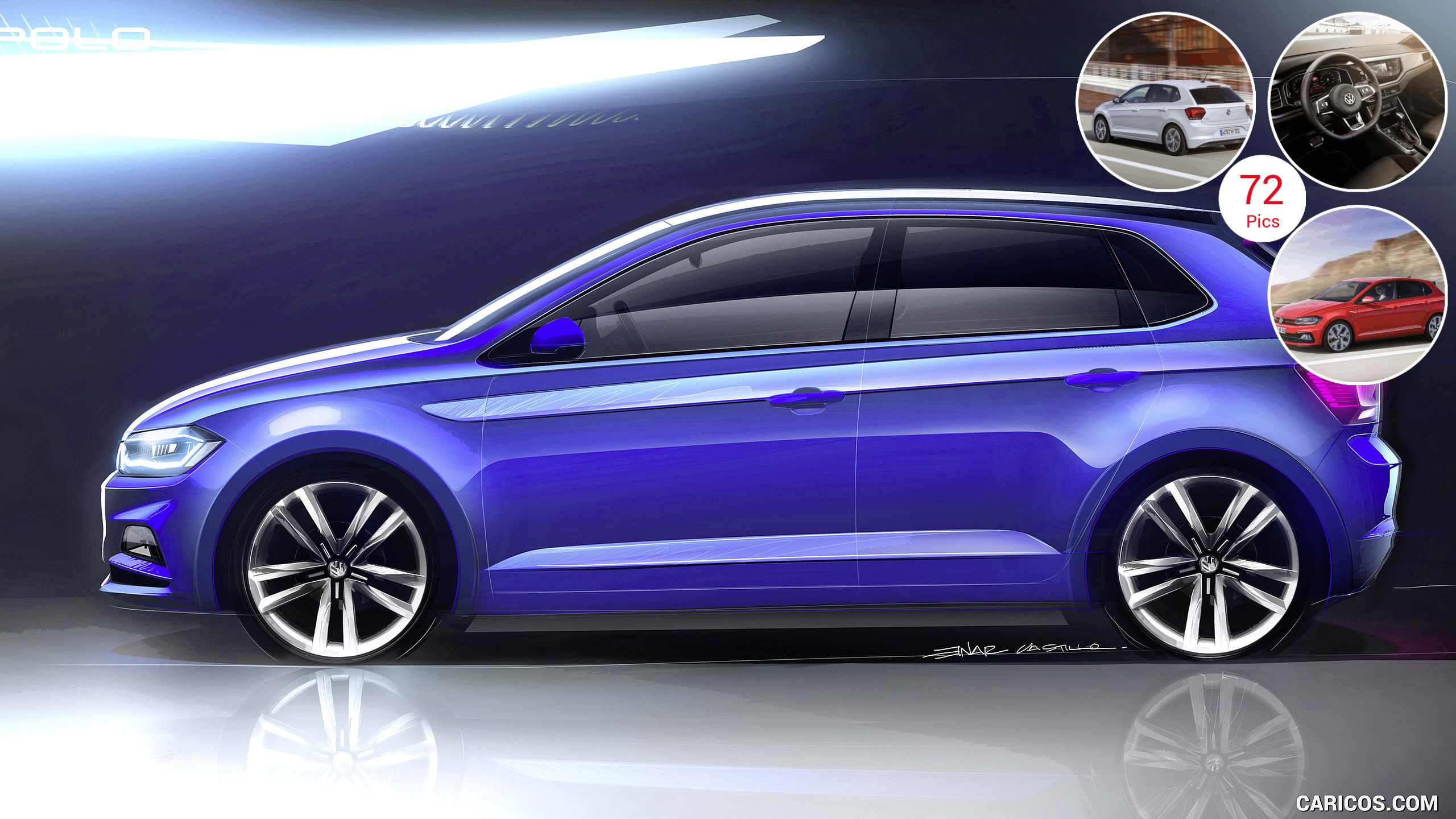 2018 Volkswagen Polo - Design Sketch | HD Wallpaper #62