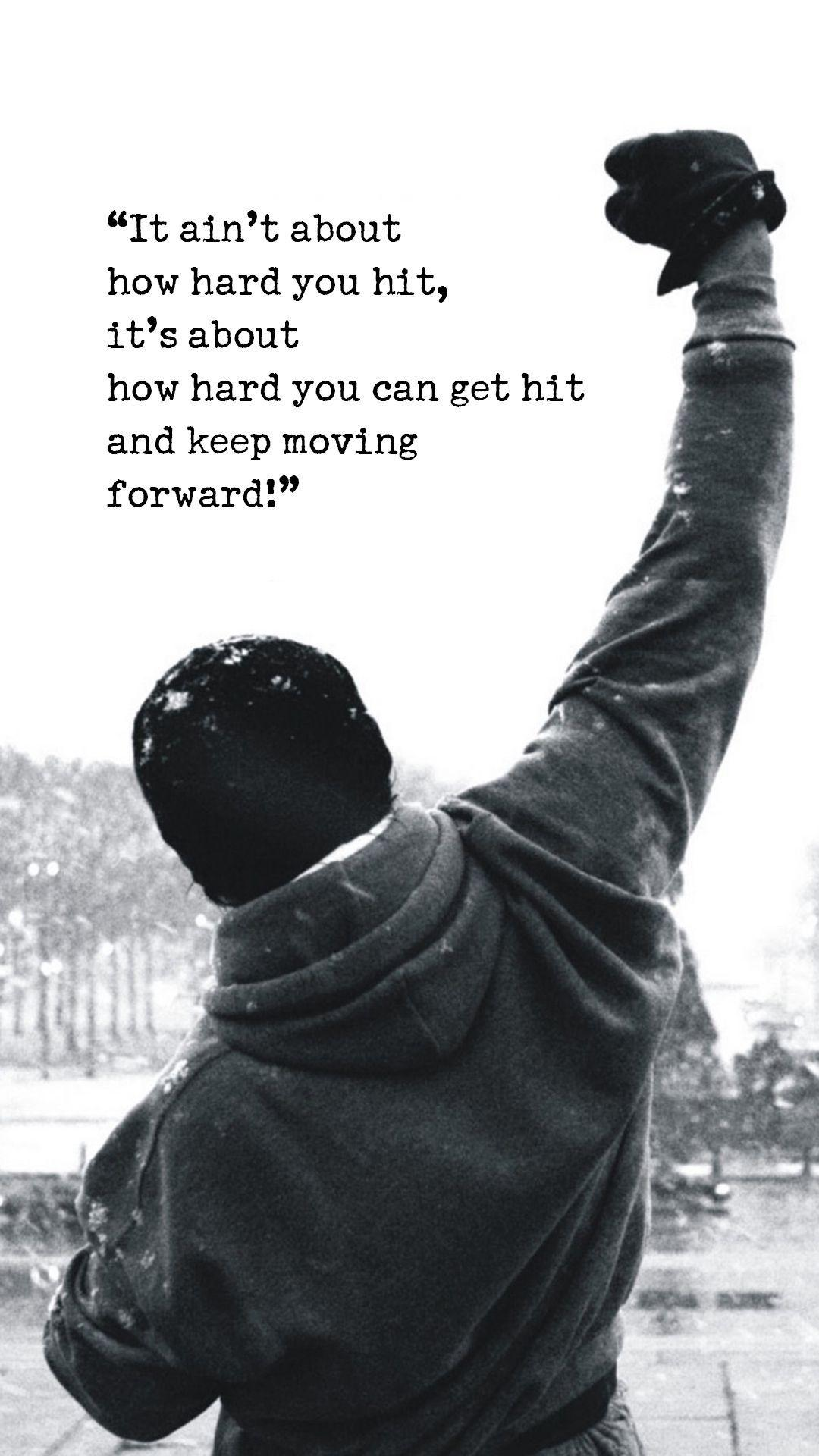 Rocky Balboa Motivational Words iPhone 6 Plus HD Wallpaper | motto ...