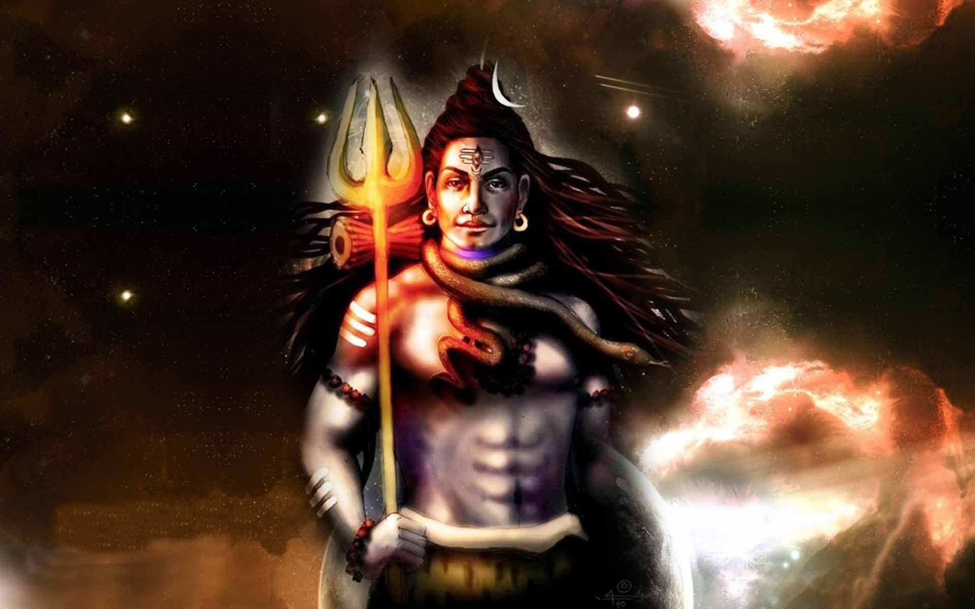 Lord Shiva 3D Wallpape...
