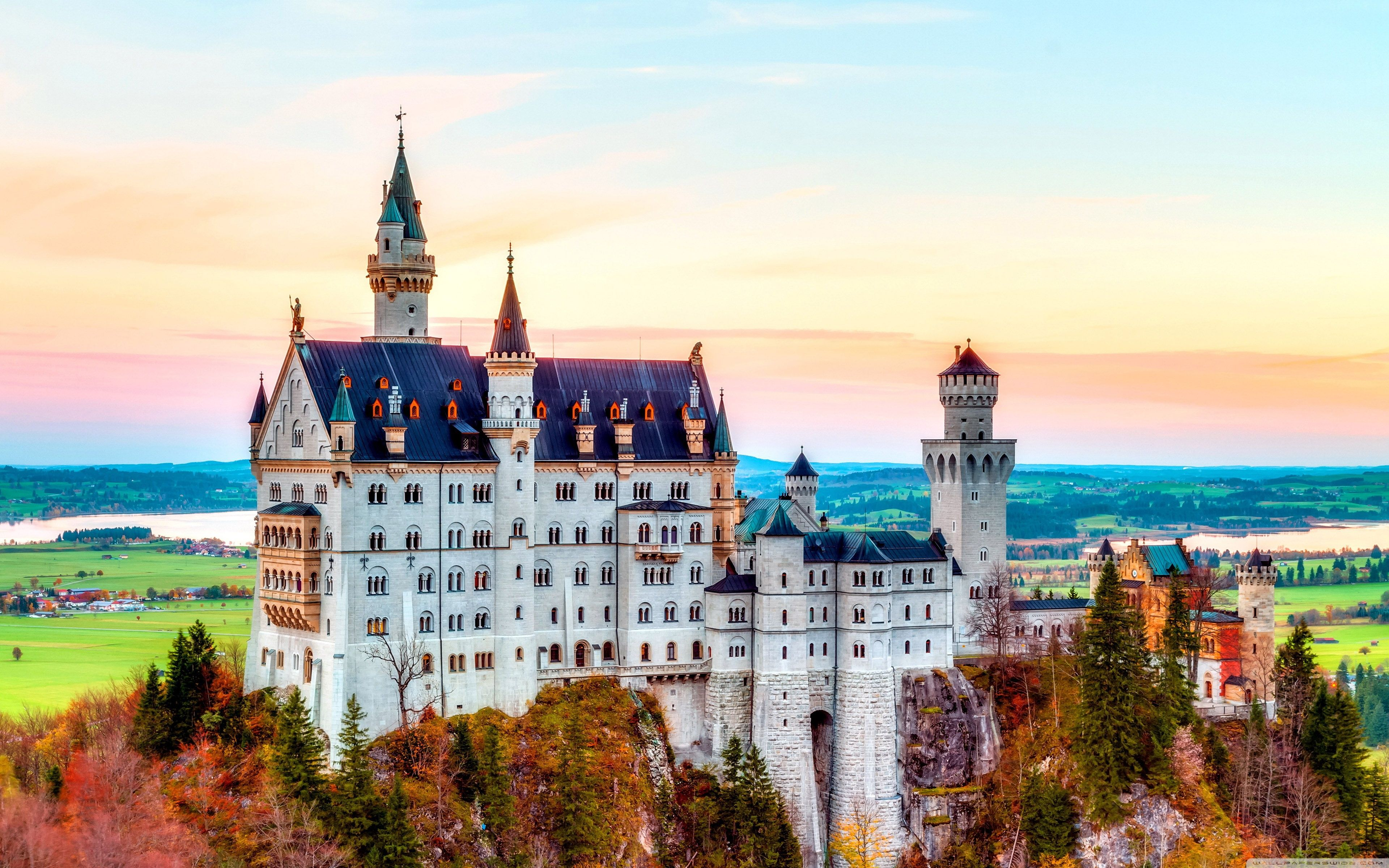 Neuschwanstein Castle, Germany, Autumn ❤ 4K HD Desktop Wallpapers